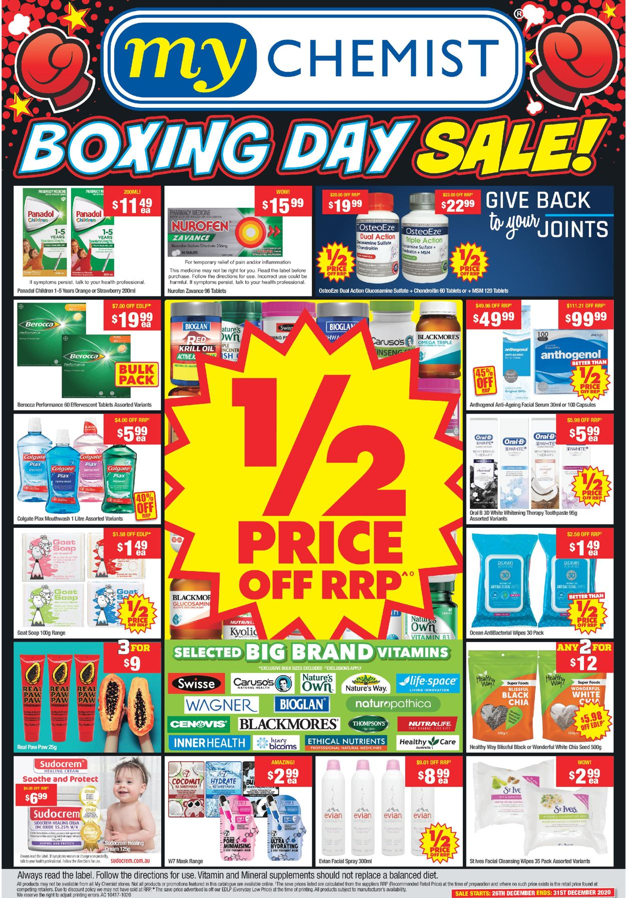 My Chemist - Boxing Day 2020 Catalogue - 26/12-31/12/2020