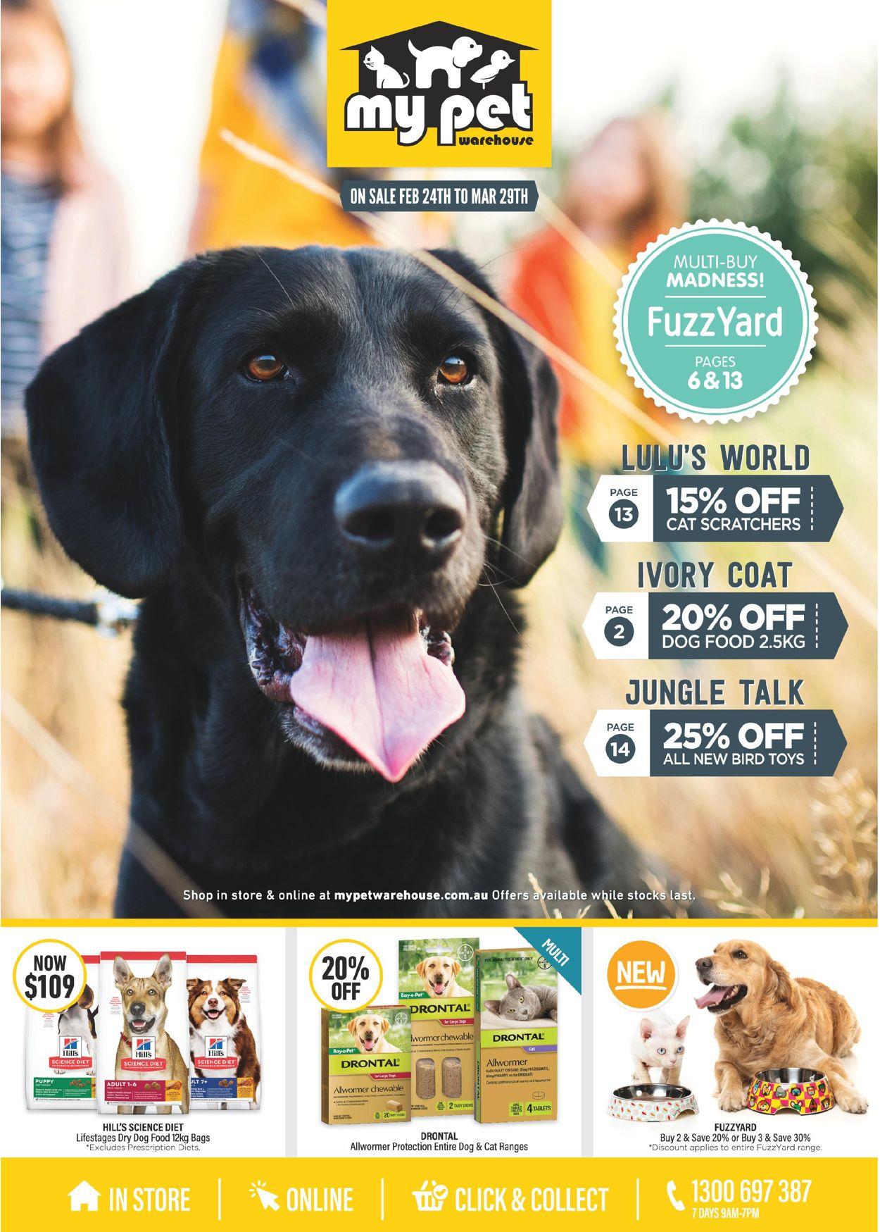 My Pet Warehouse Catalogue - 24/02-29/03/2020