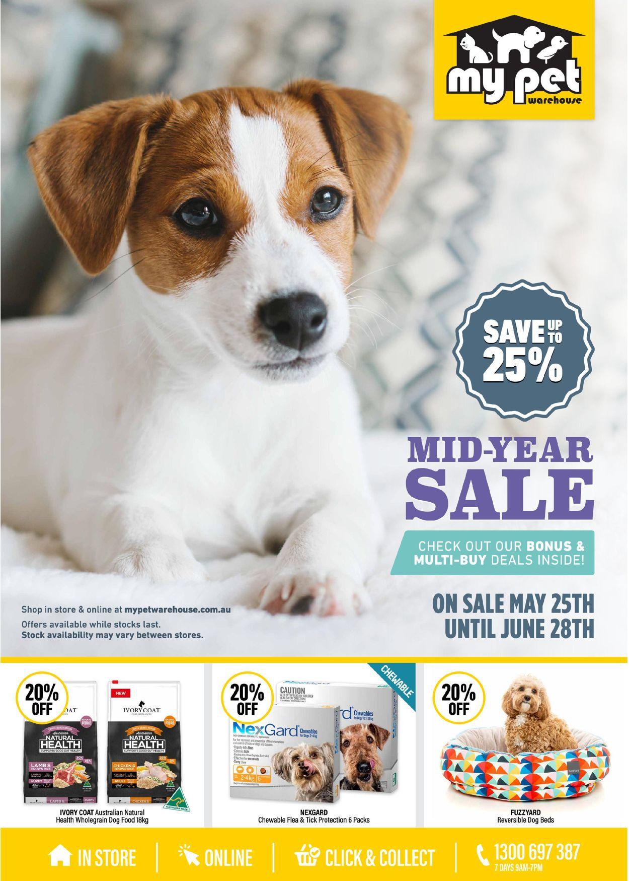 My Pet Warehouse Catalogue - 25/05-28/06/2020