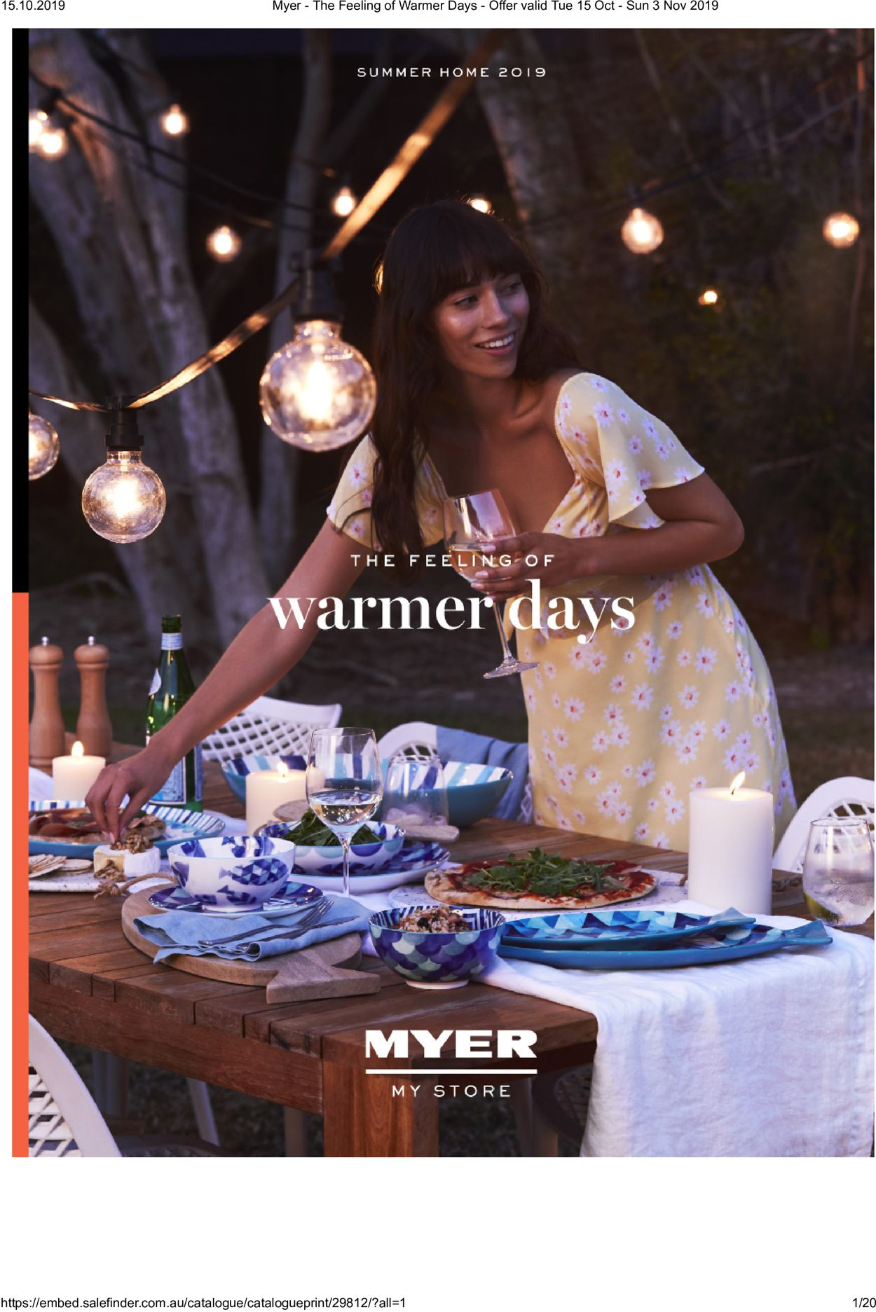 Myer Catalogue - 15/10-03/11/2019