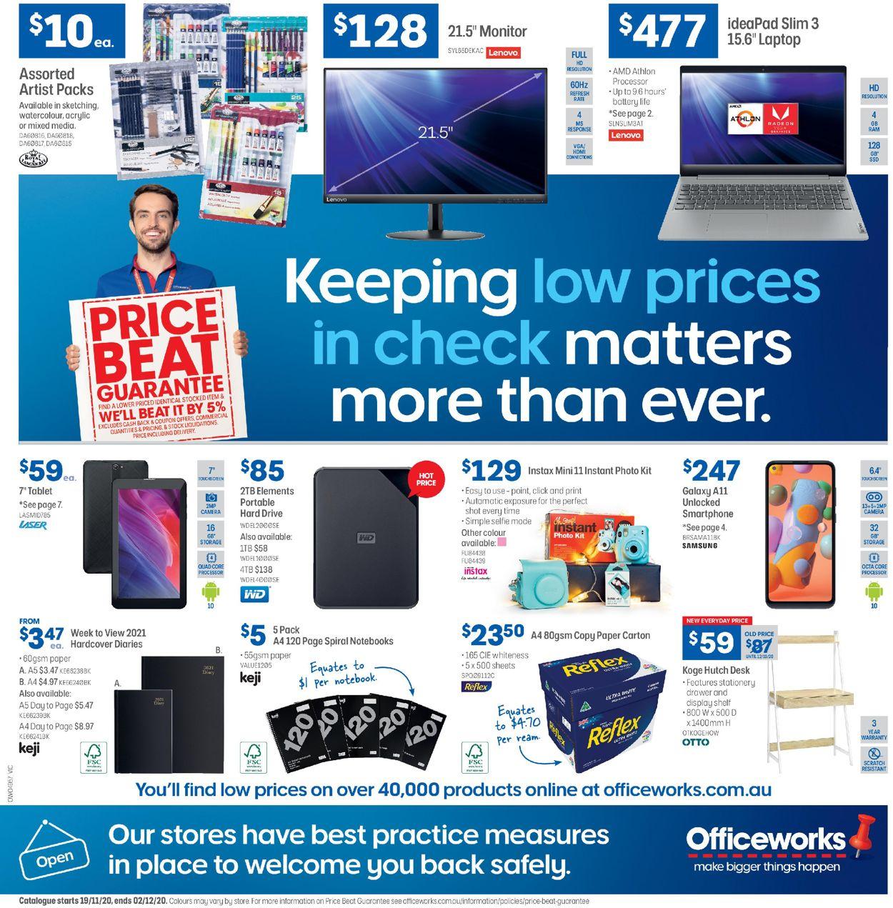 Officeworks Black Friday 2020 Catalogue - 19/11-02/12/2020