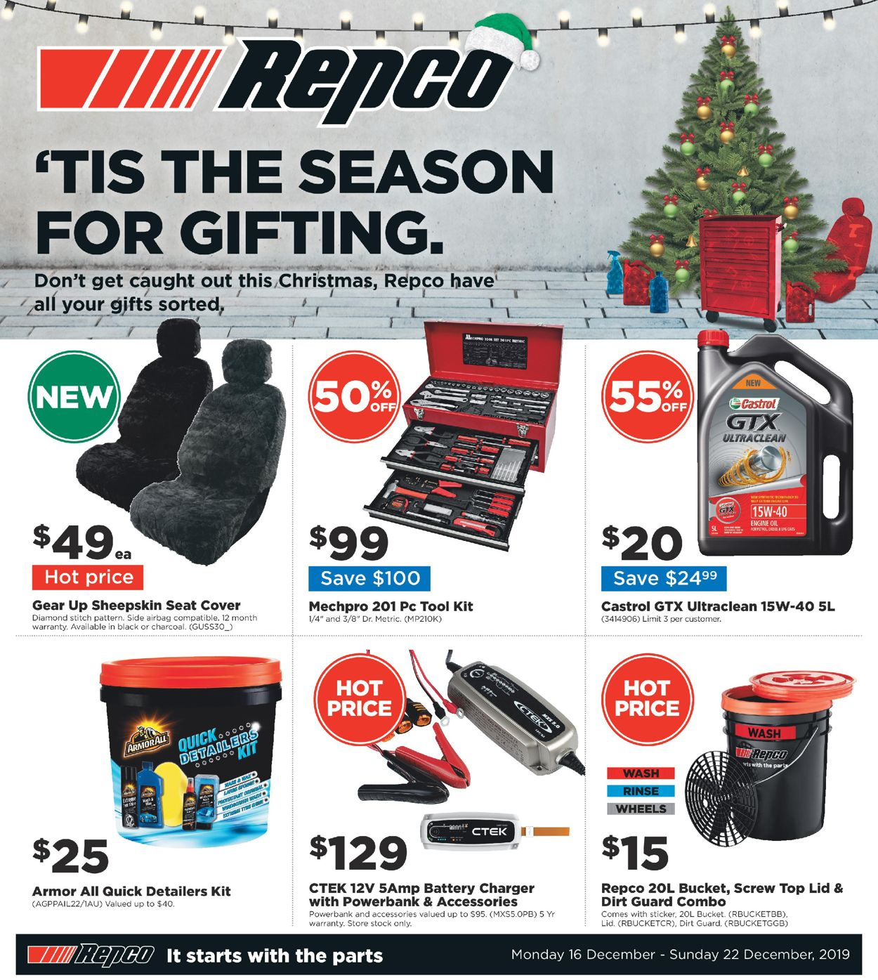 Repco Christmas Catalogue 2019 Catalogue - 16/12-22/12/2019