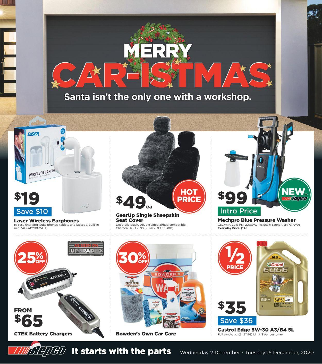 Repco - Car-istmas 2020 Catalogue - 02/12-15/12/2020