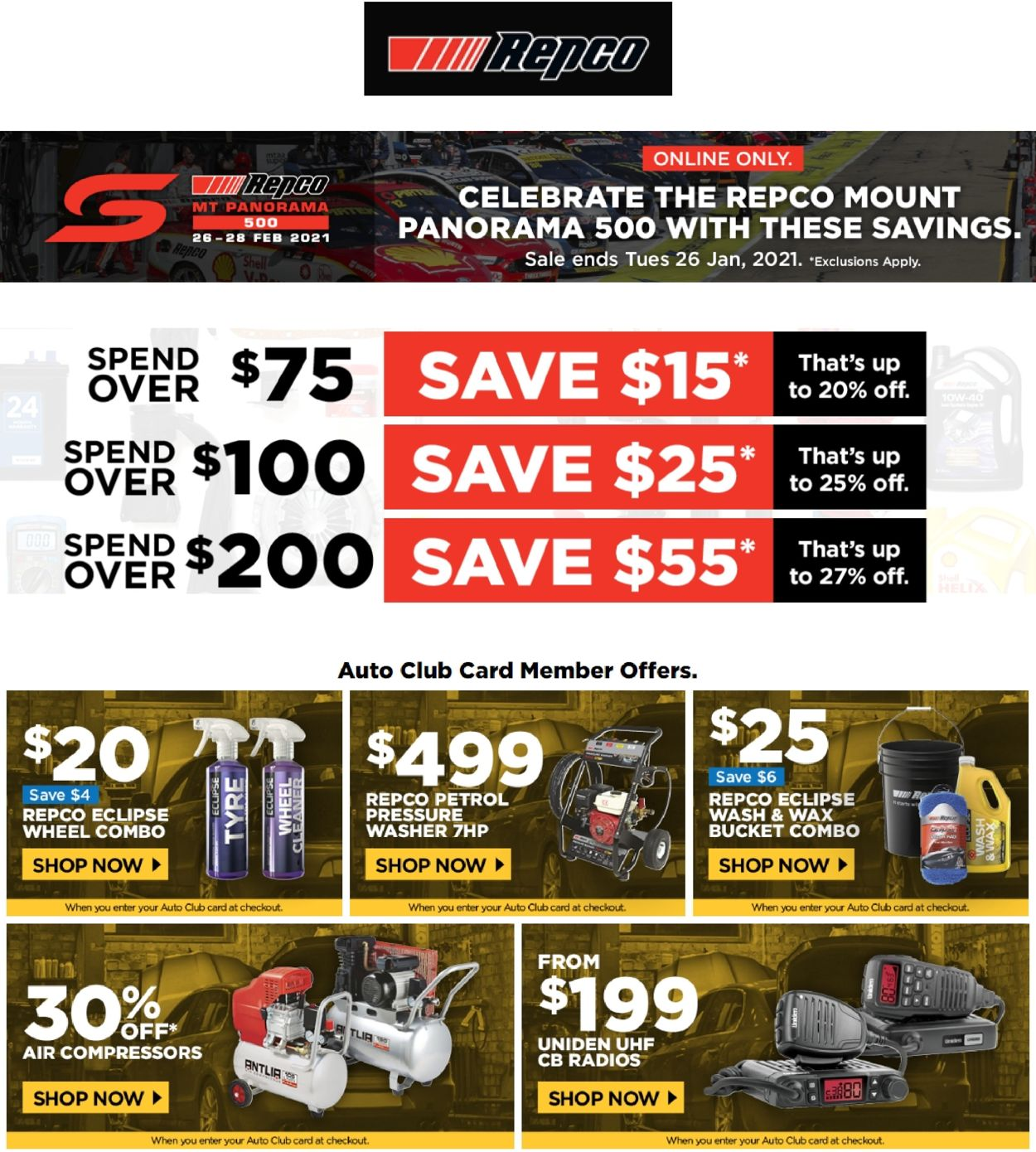 Repco Catalogue - 25/01-28/01/2021