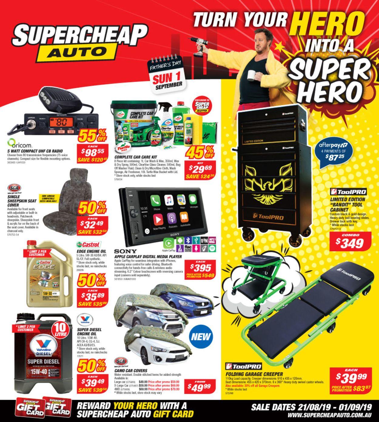 Supercheap Auto Catalogue - 21/08-01/09/2019