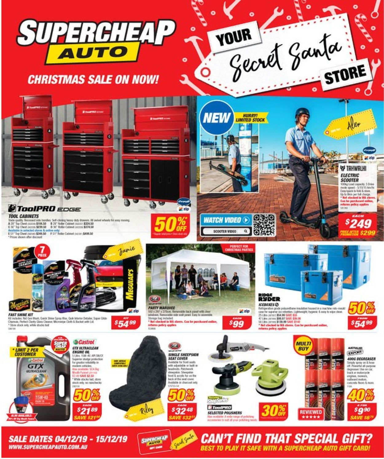 Supercheap Auto Catalogue - 04/12-15/12/2019