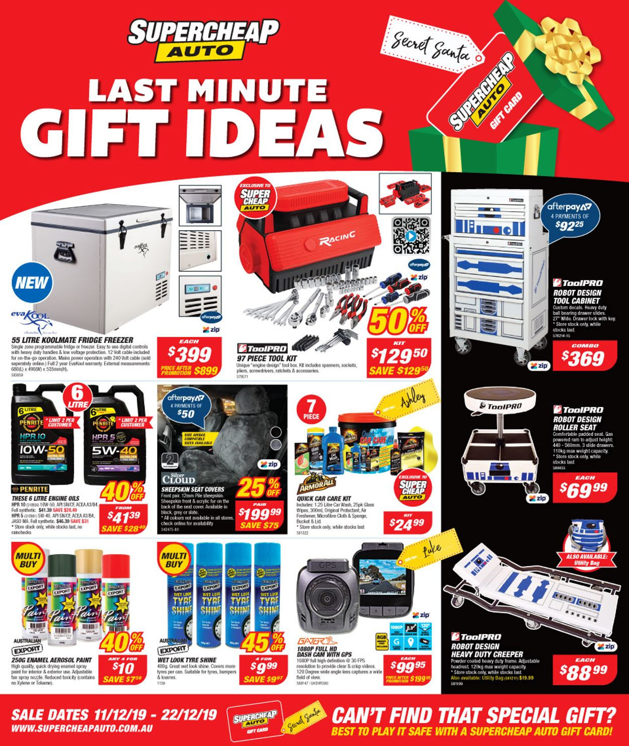 Supercheap Auto Christmas Catalogue 2019 Catalogue - 11/12-22/12/2019