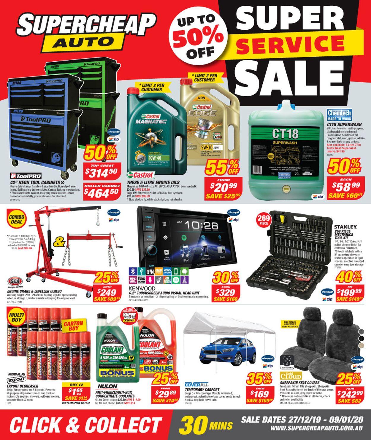 Supercheap Auto Catalogue - 27/12-09/01/2020