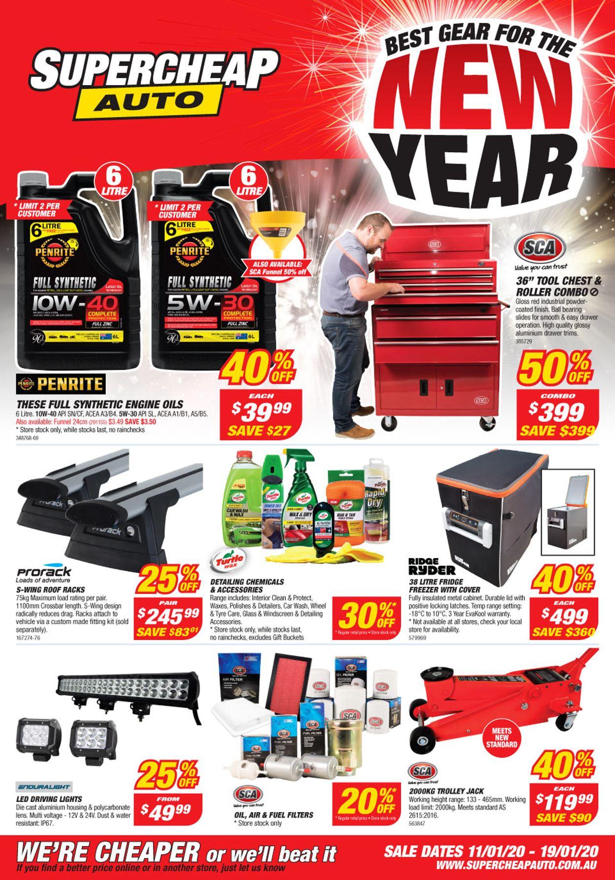 Supercheap Auto Catalogue - 11/01-19/01/2020