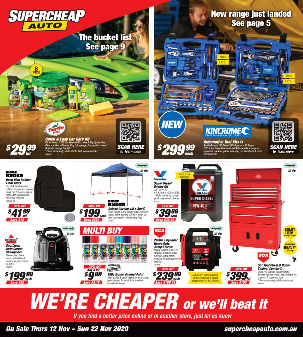 Supercheap Auto Catalogue - 12/11-22/11/2020