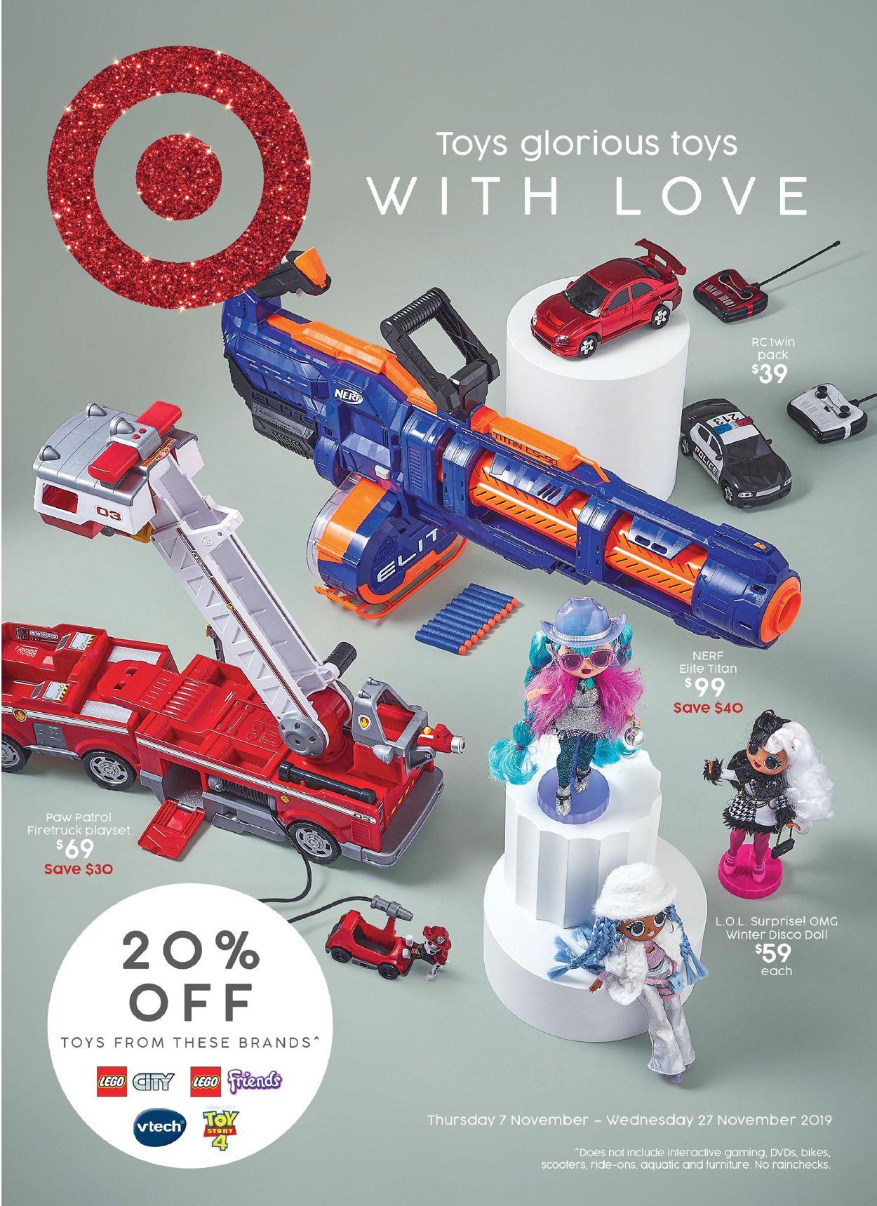 Target Catalogue - 07/11-27/11/2019