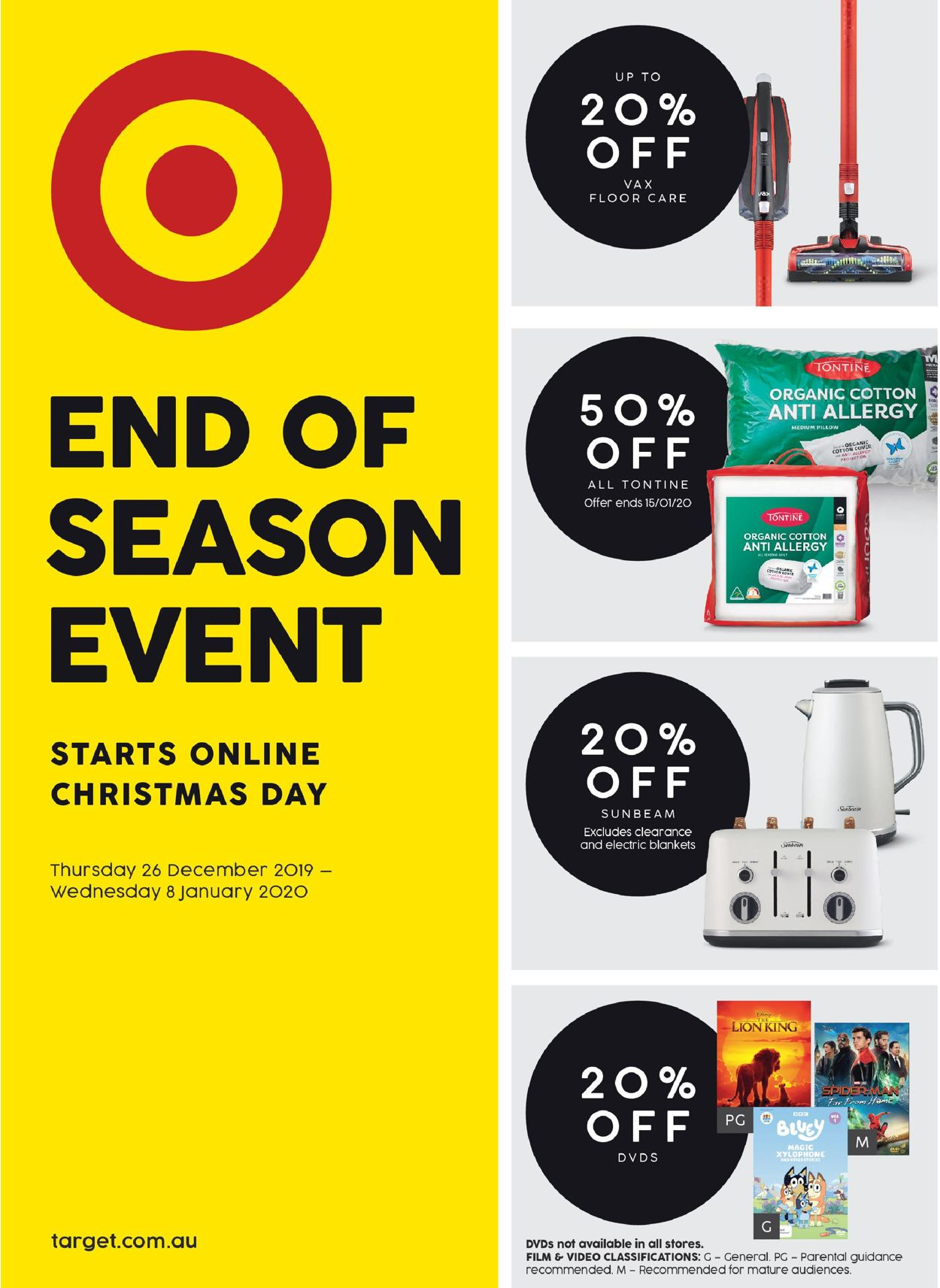 Target Catalogue - 26/12-08/01/2020
