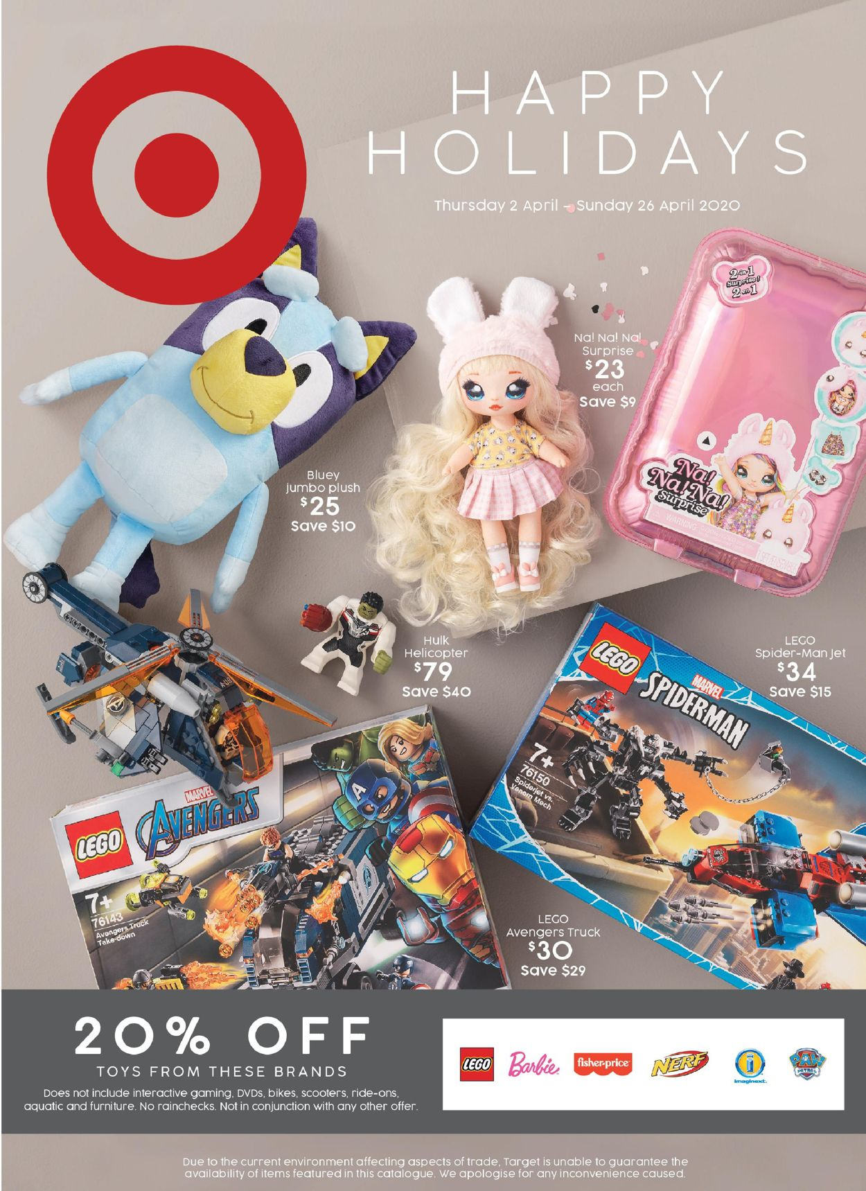 Target Catalogue - 02/04-26/04/2020
