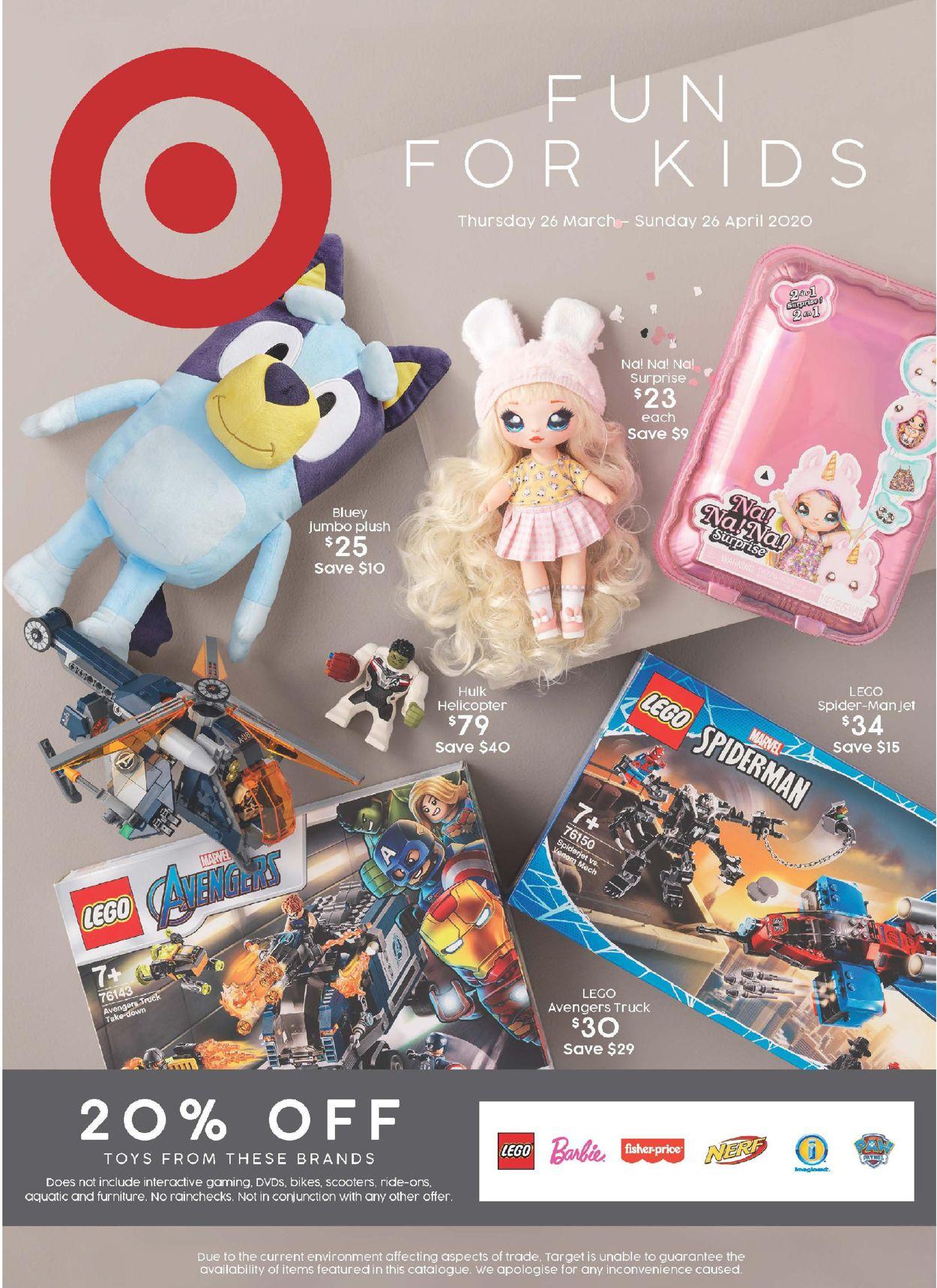 Target Catalogue - 26/03-26/04/2020