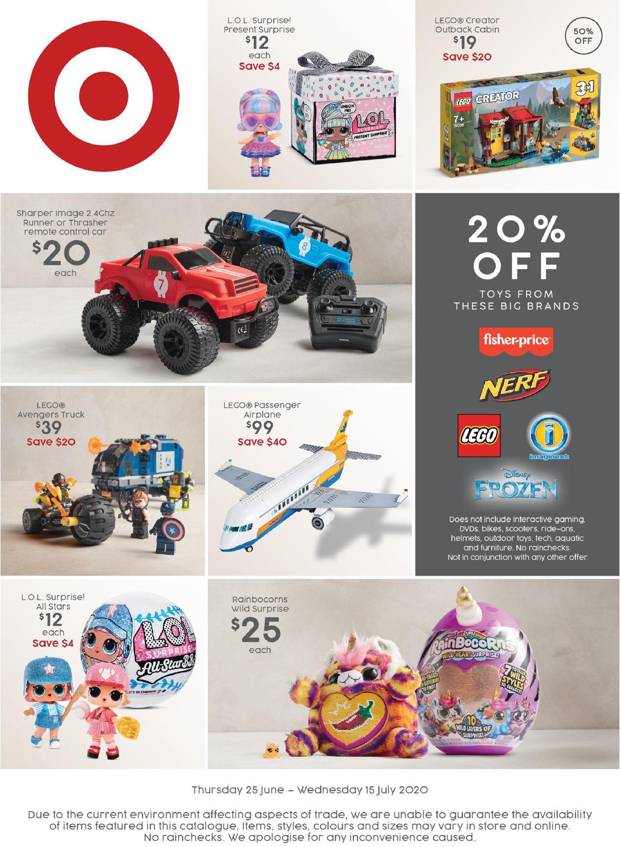 Target Catalogue - 25/06-15/07/2020