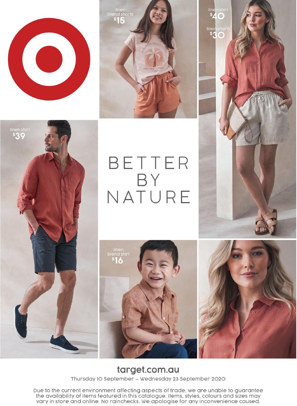 Target Catalogue - 10/09-23/09/2020