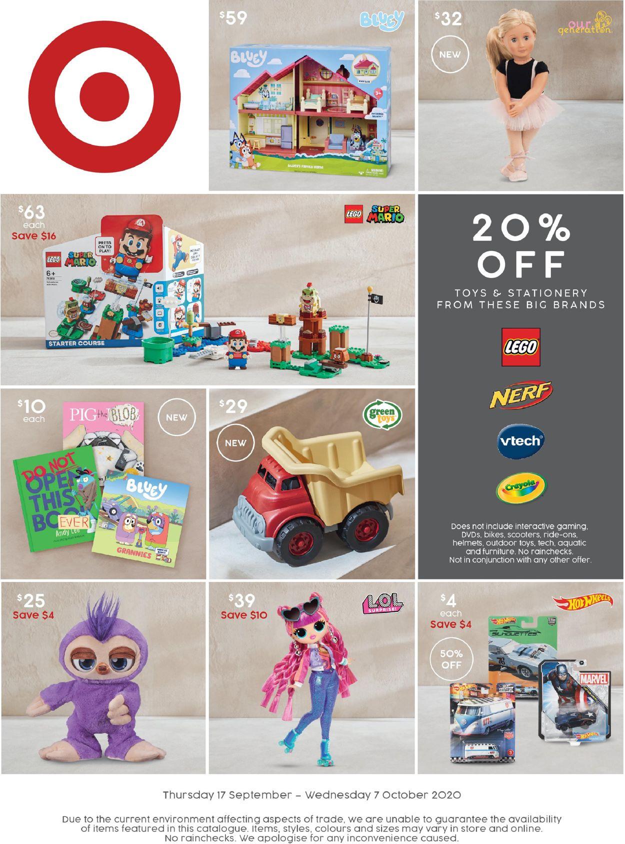 Target Catalogue - 17/09-07/10/2020