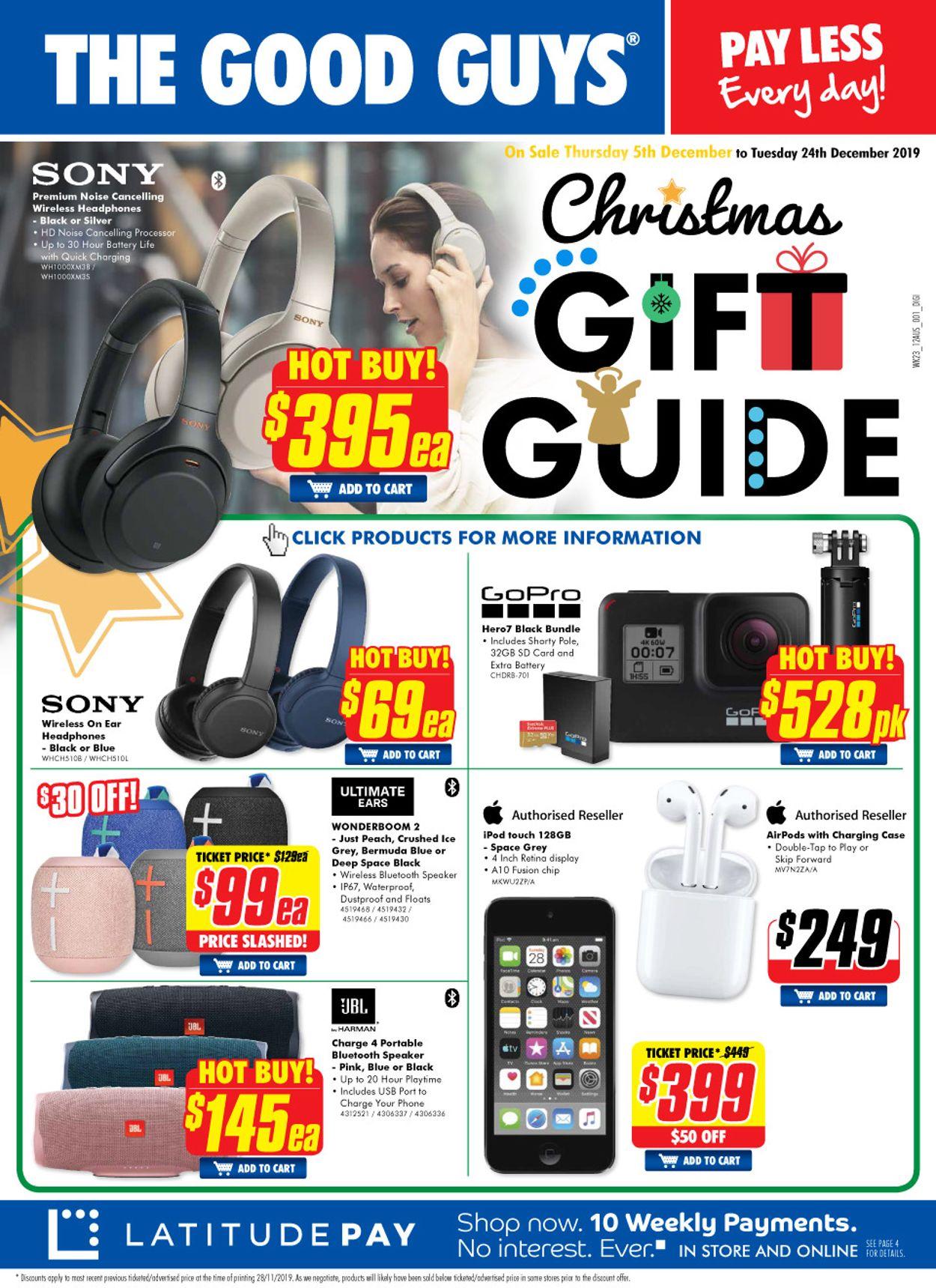 The Good Guys Catalogue - 05/12-24/12/2019