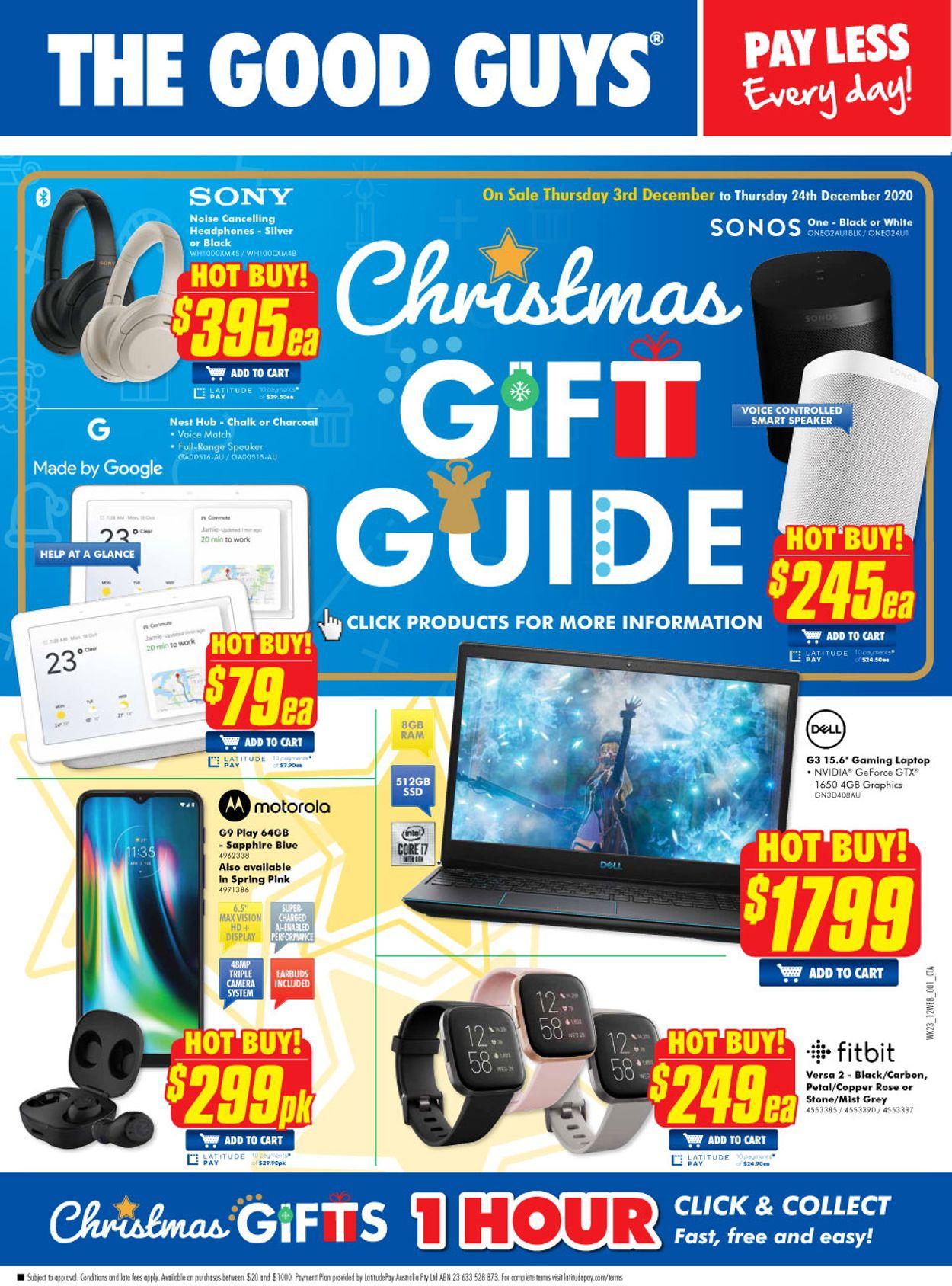 The Good Guys - Christmas 2020 Catalogue - 03/12-24/12/2020