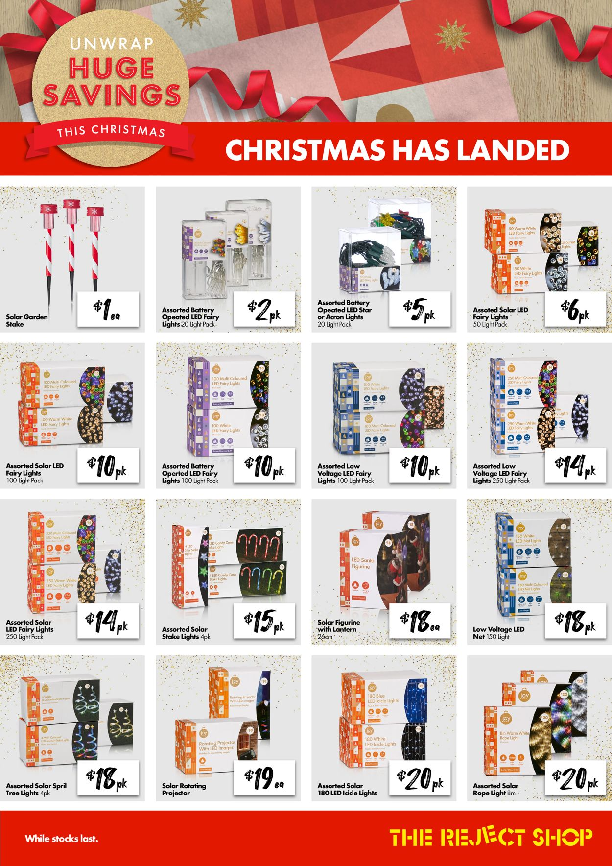 The Reject Shop Christmas 2020 Catalogue - 29/10-15/11/2020