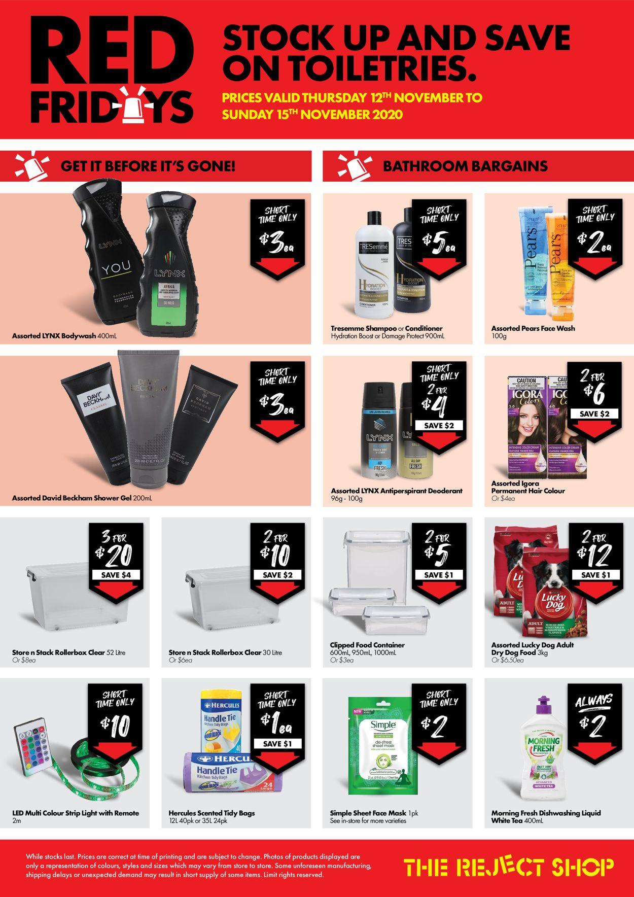 The Reject Shop Catalogue - 12/11-15/11/2020