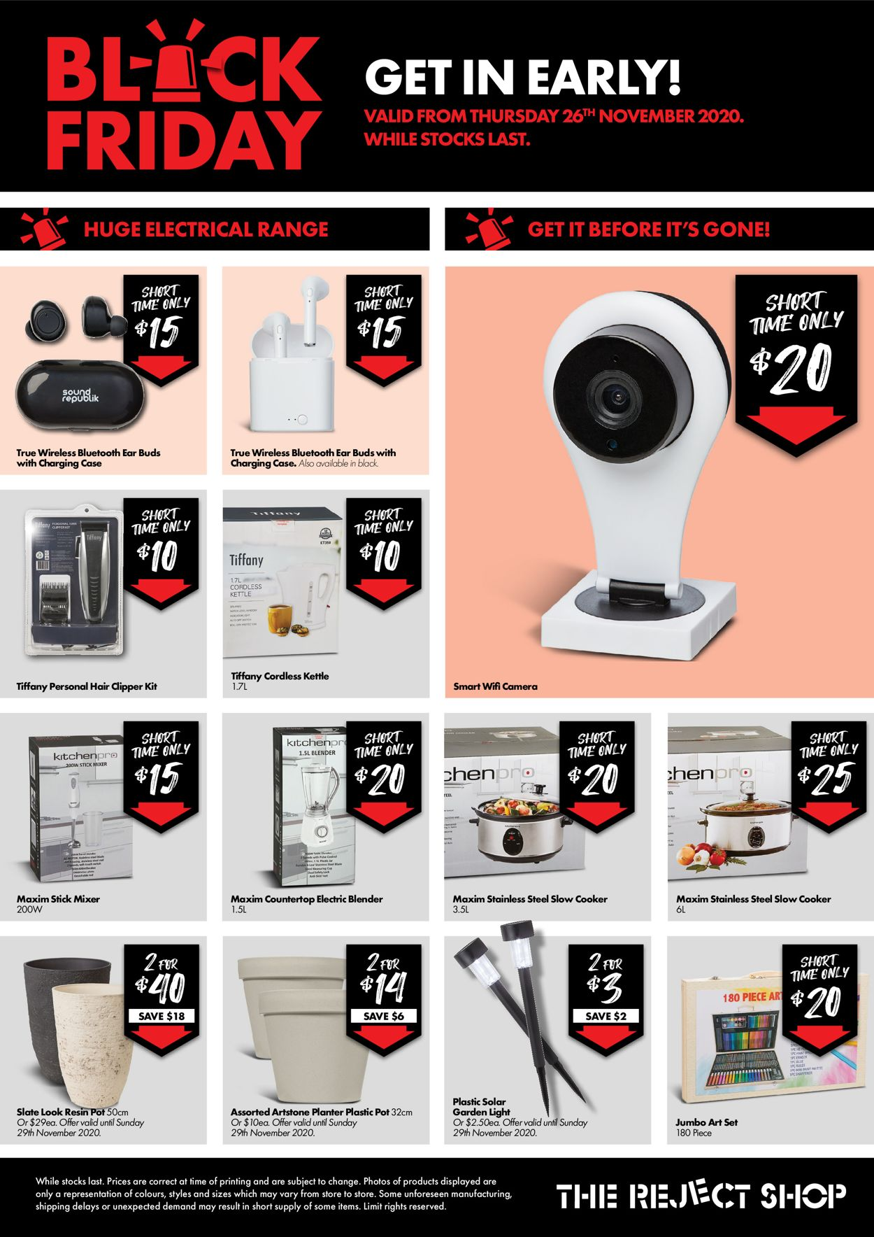 The Reject Shop - Black Friday 2020 Catalogue - 26/11-02/12/2020