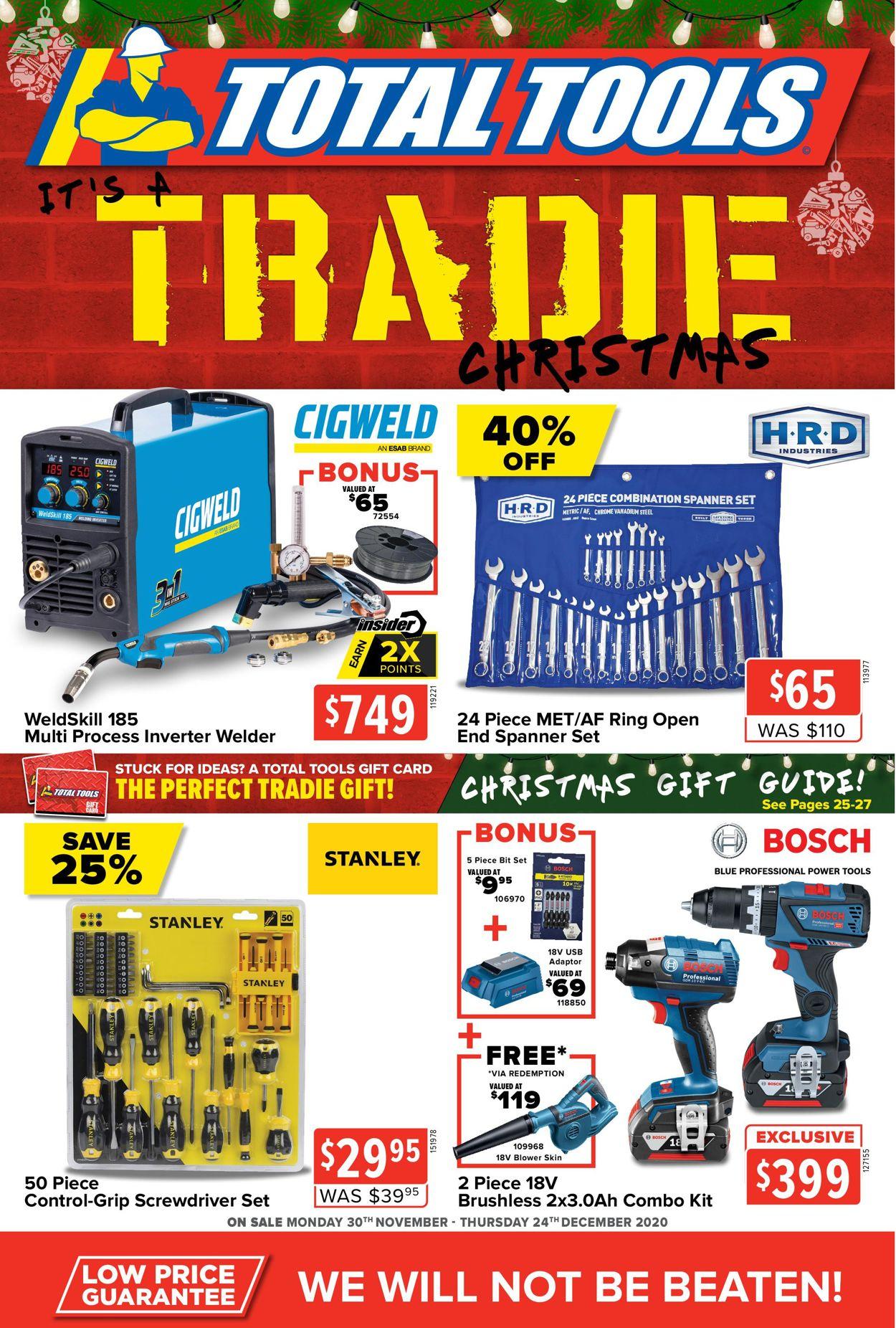 Total Tools - Christmas 2020 Catalogue - 30/11-24/12/2020