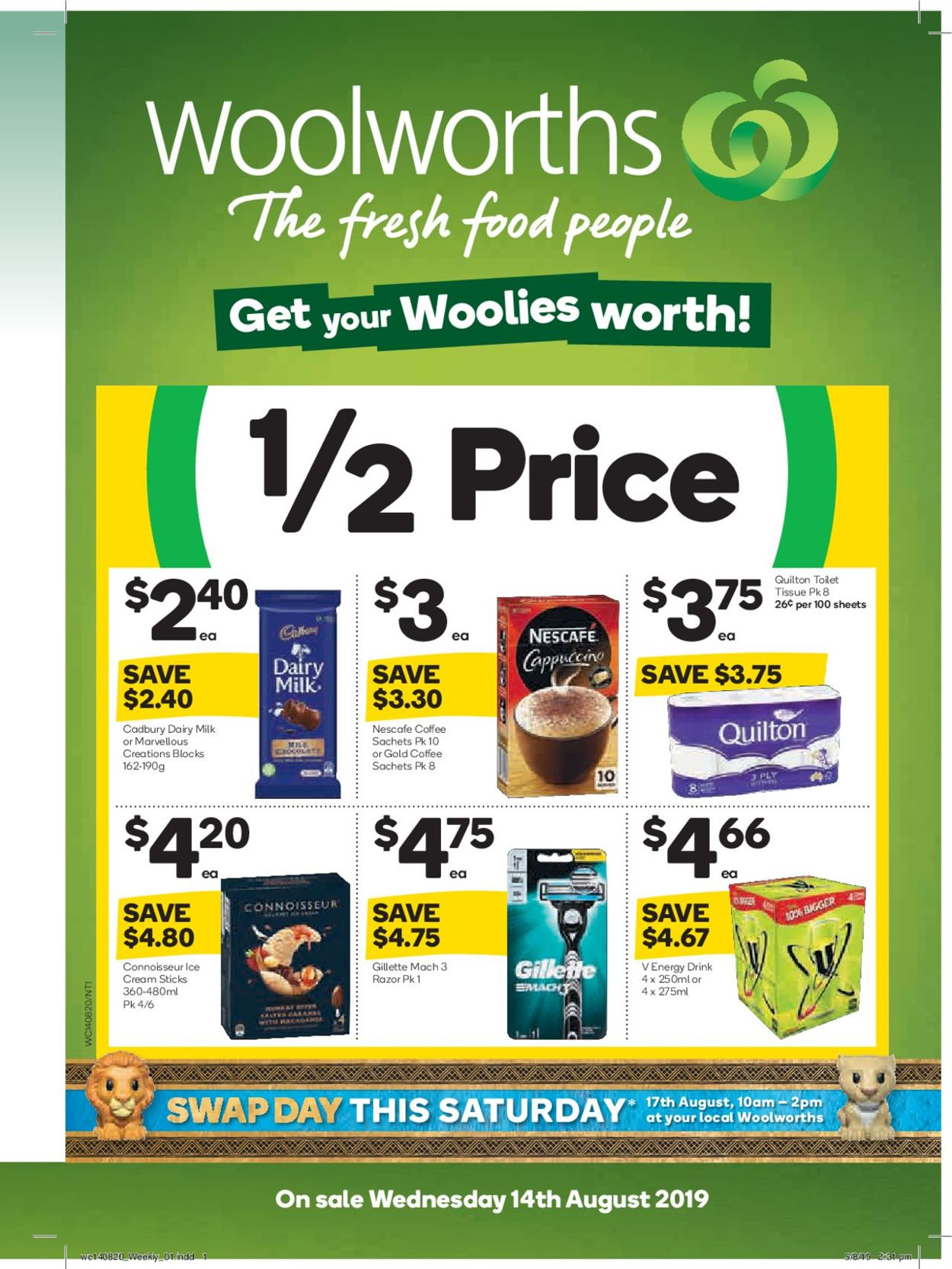 Woolworths Catalogue - 14/08-20/08/2019