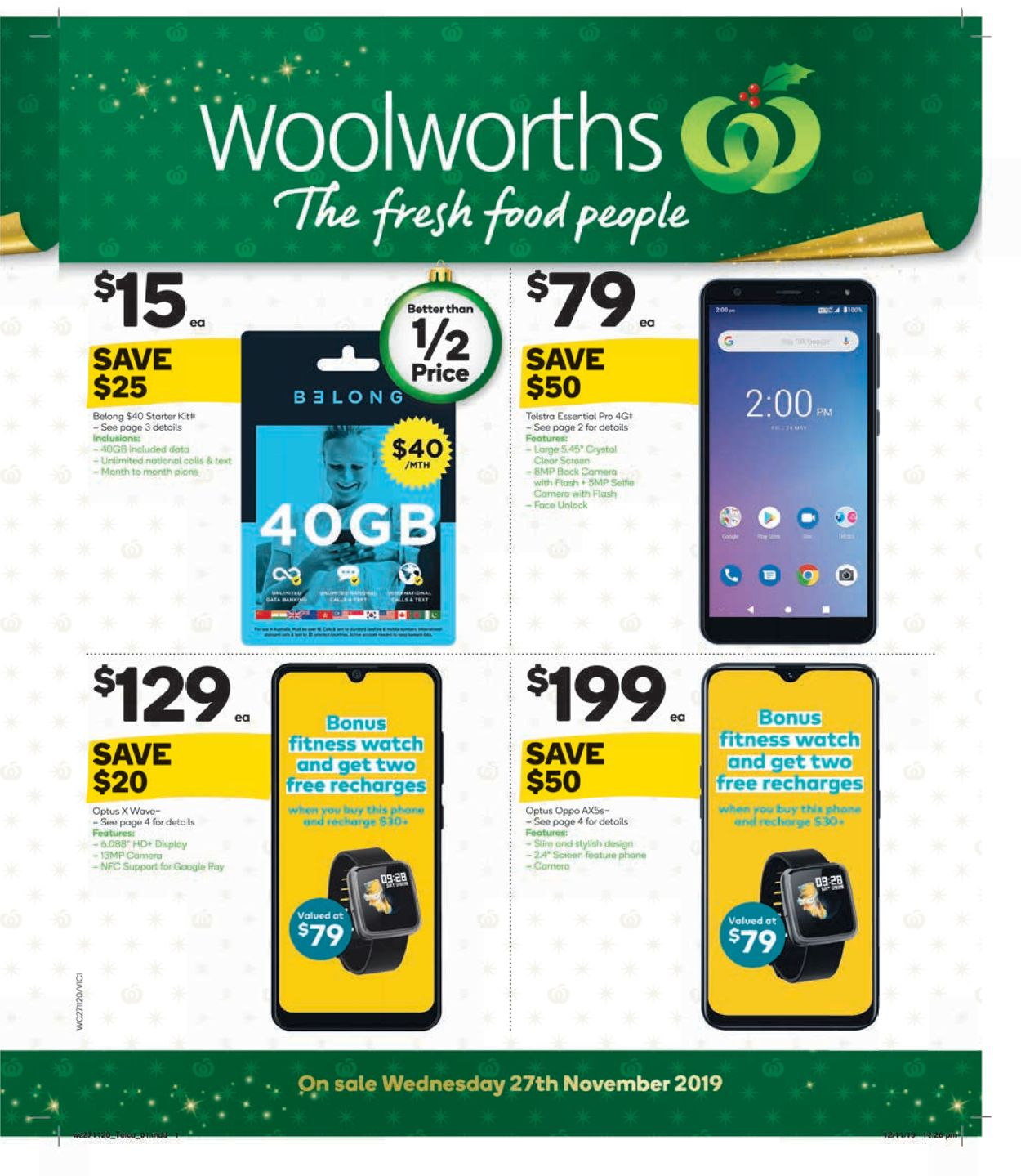 Woolworths Christmas Catalogue 2019 Catalogue - 27/11-03/12/2019