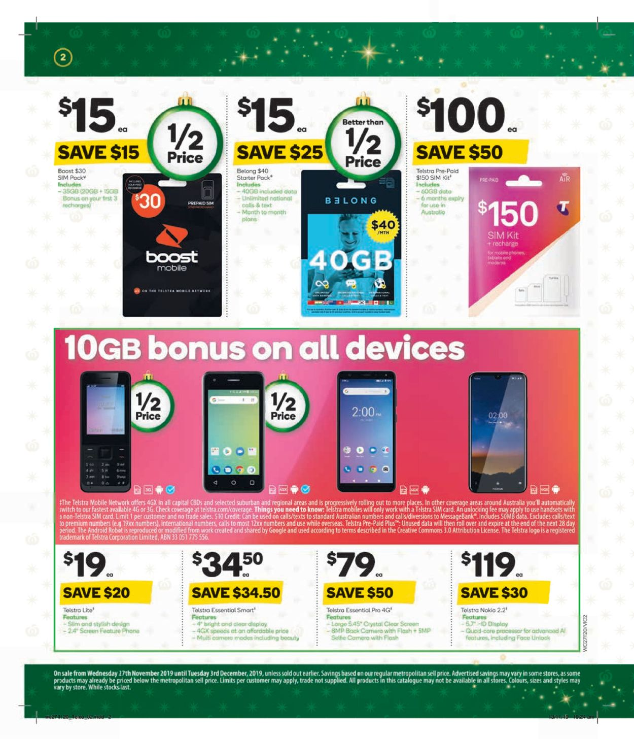 Woolworths Christmas Catalogue 2019 Catalogue - 27/11-03/12/2019 (Page 2)