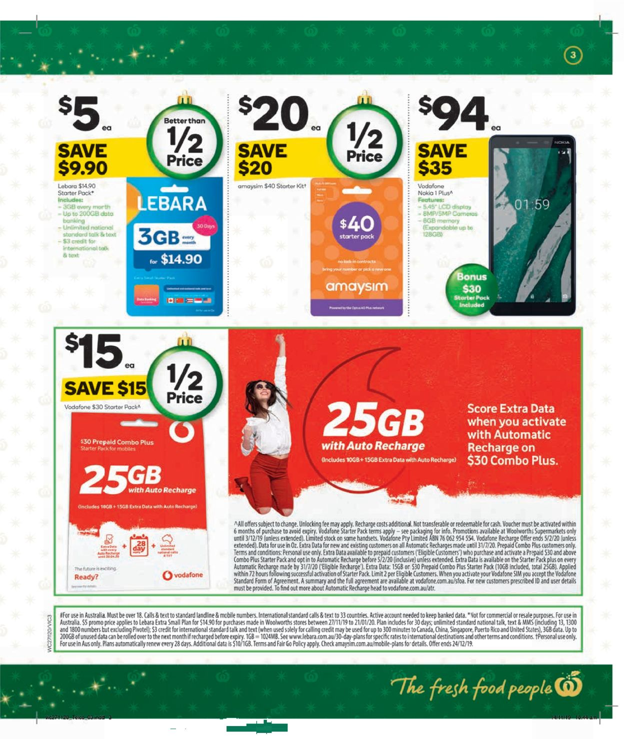 Woolworths Christmas Catalogue 2019 Catalogue - 27/11-03/12/2019 (Page 3)