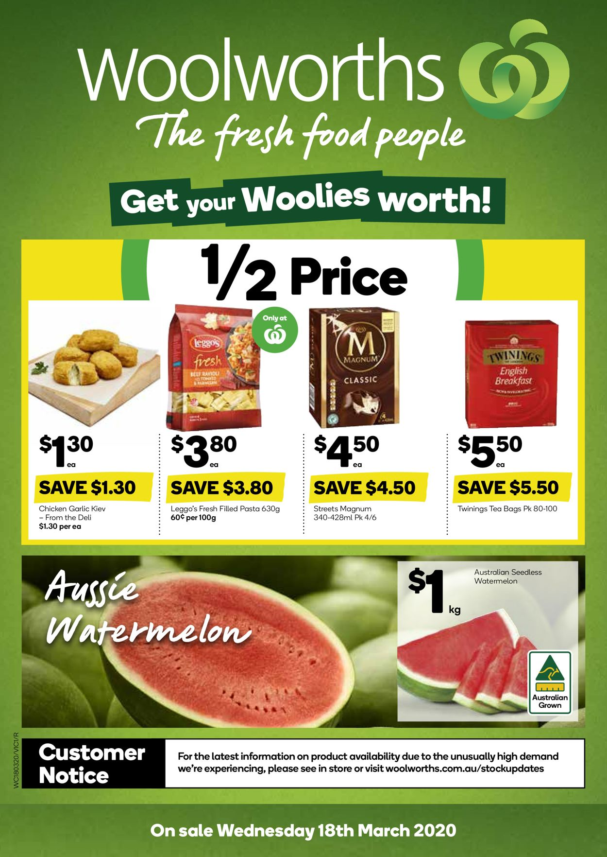 Woolworths Catalogue - 18/03-24/03/2020