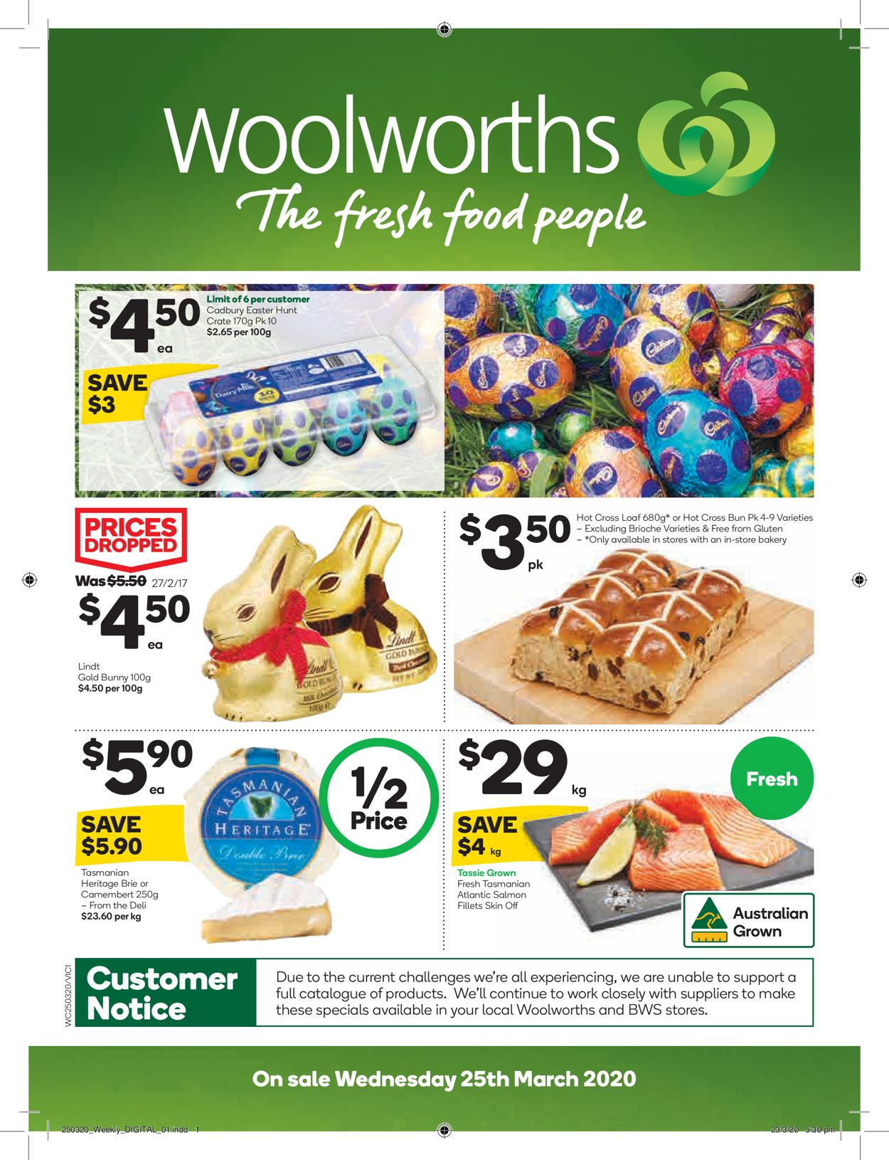 Woolworths Catalogue - 25/03-31/03/2020