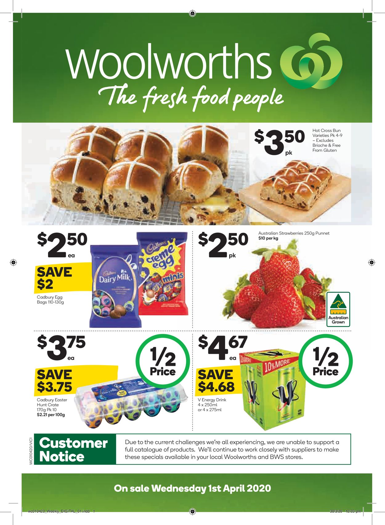 Woolworths Catalogue - 01/04-07/04/2020