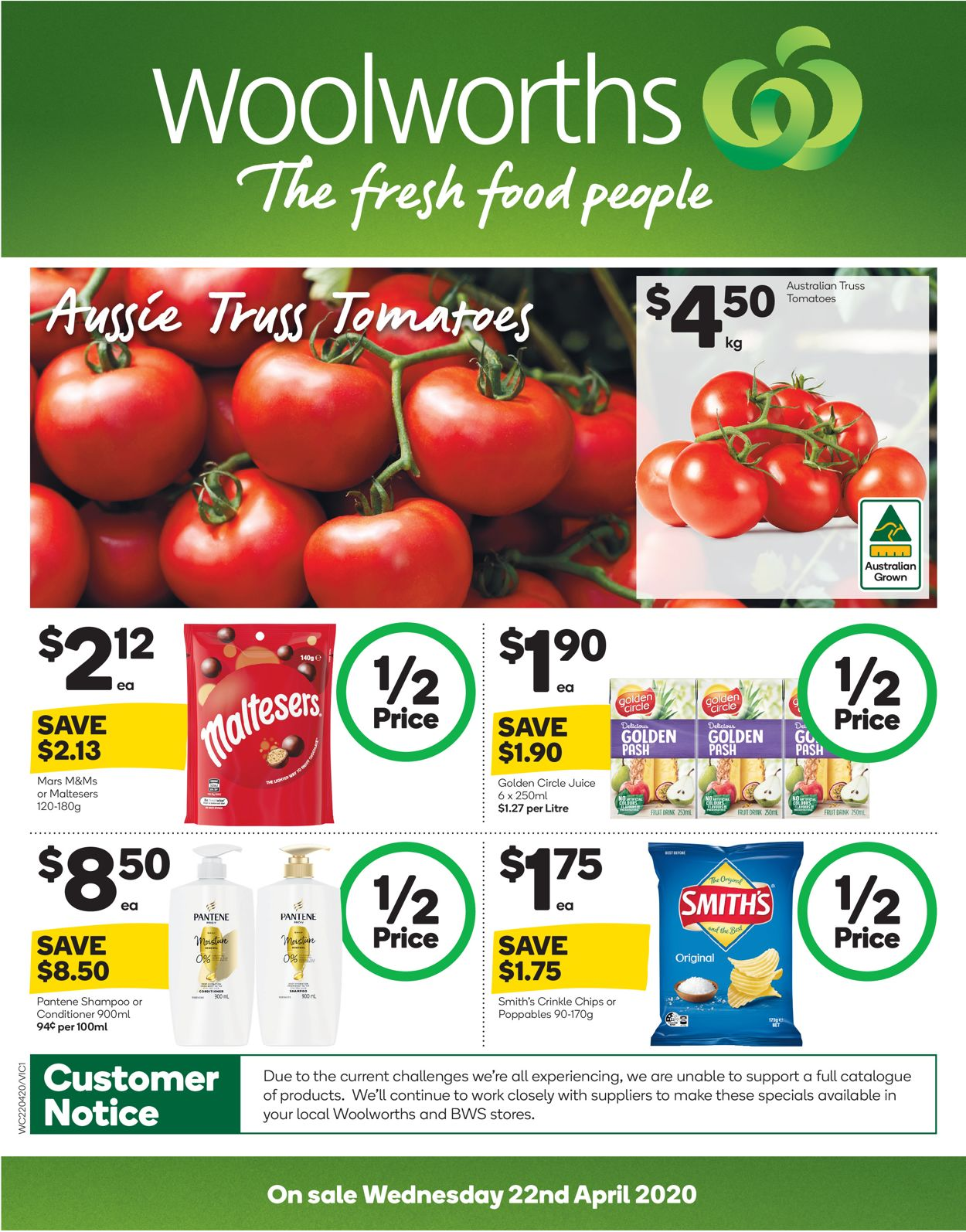 Woolworths Catalogue - 22/04-28/04/2020