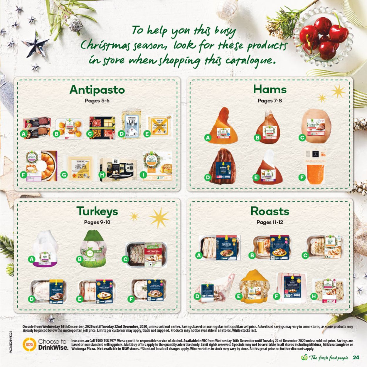 Woolworths - Christmas 2020 Catalogue - 15/12-22/12/2020 (Page 24)