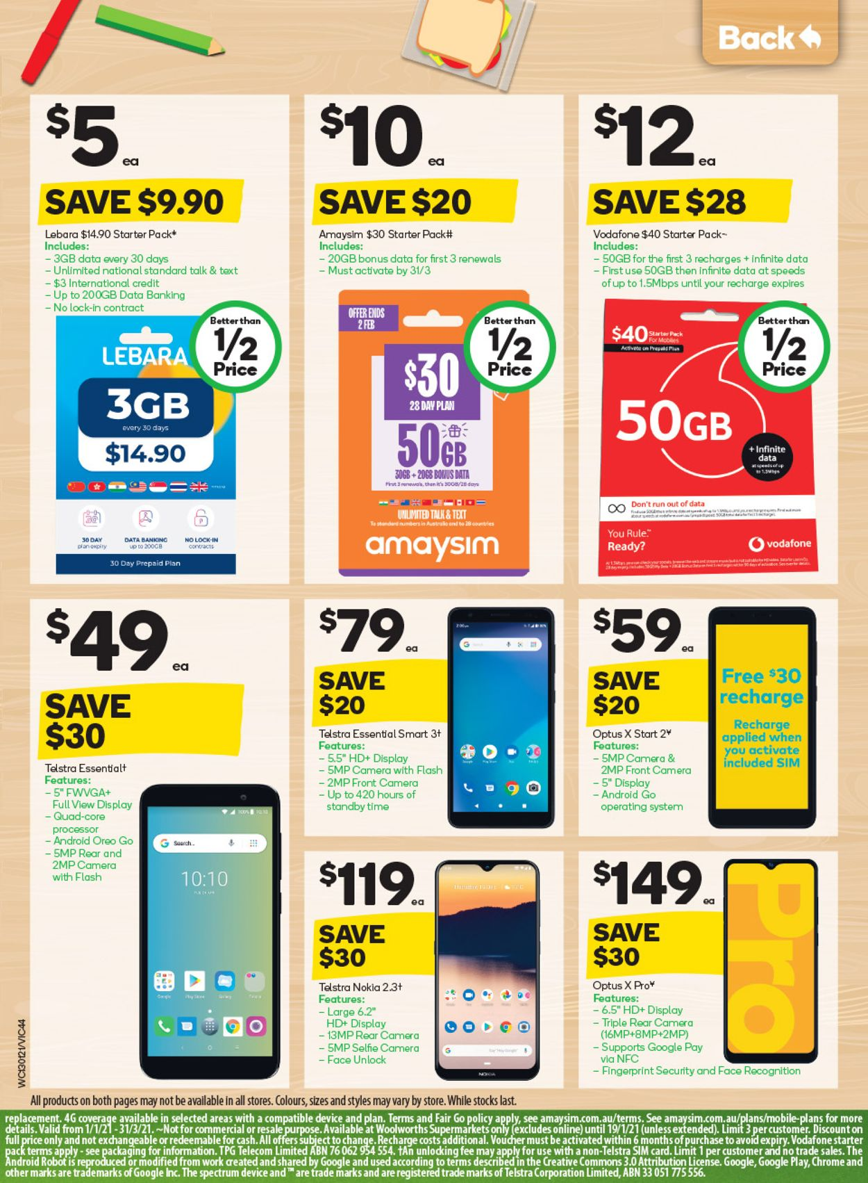 Woolworths Catalogue - 13/01-19/01/2021 (Page 44)