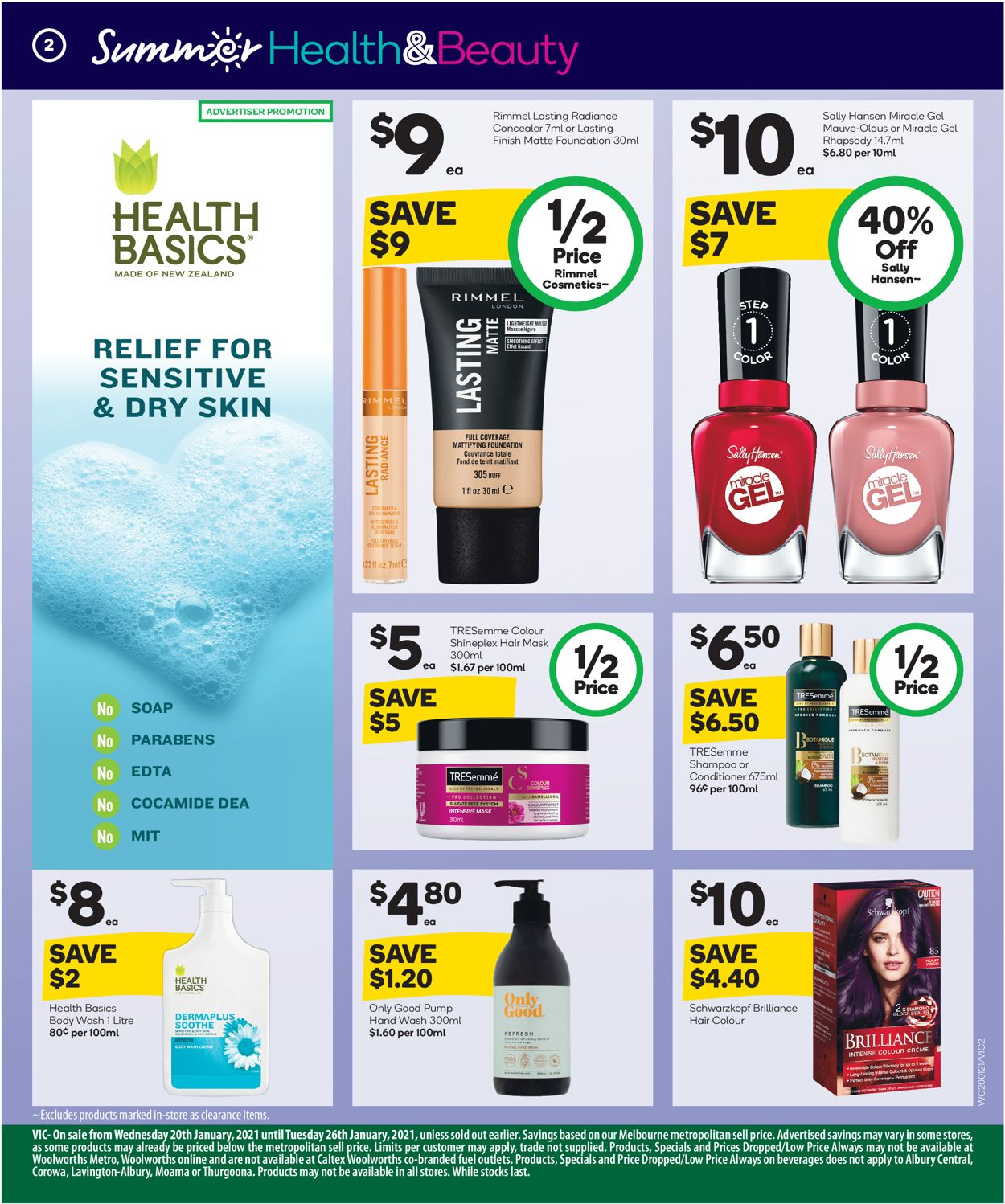 Woolworths - Health & Beauty Catalogue - 20/01-26/01/2021 (Page 2)