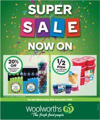 Woolworths - Black Friday 2020