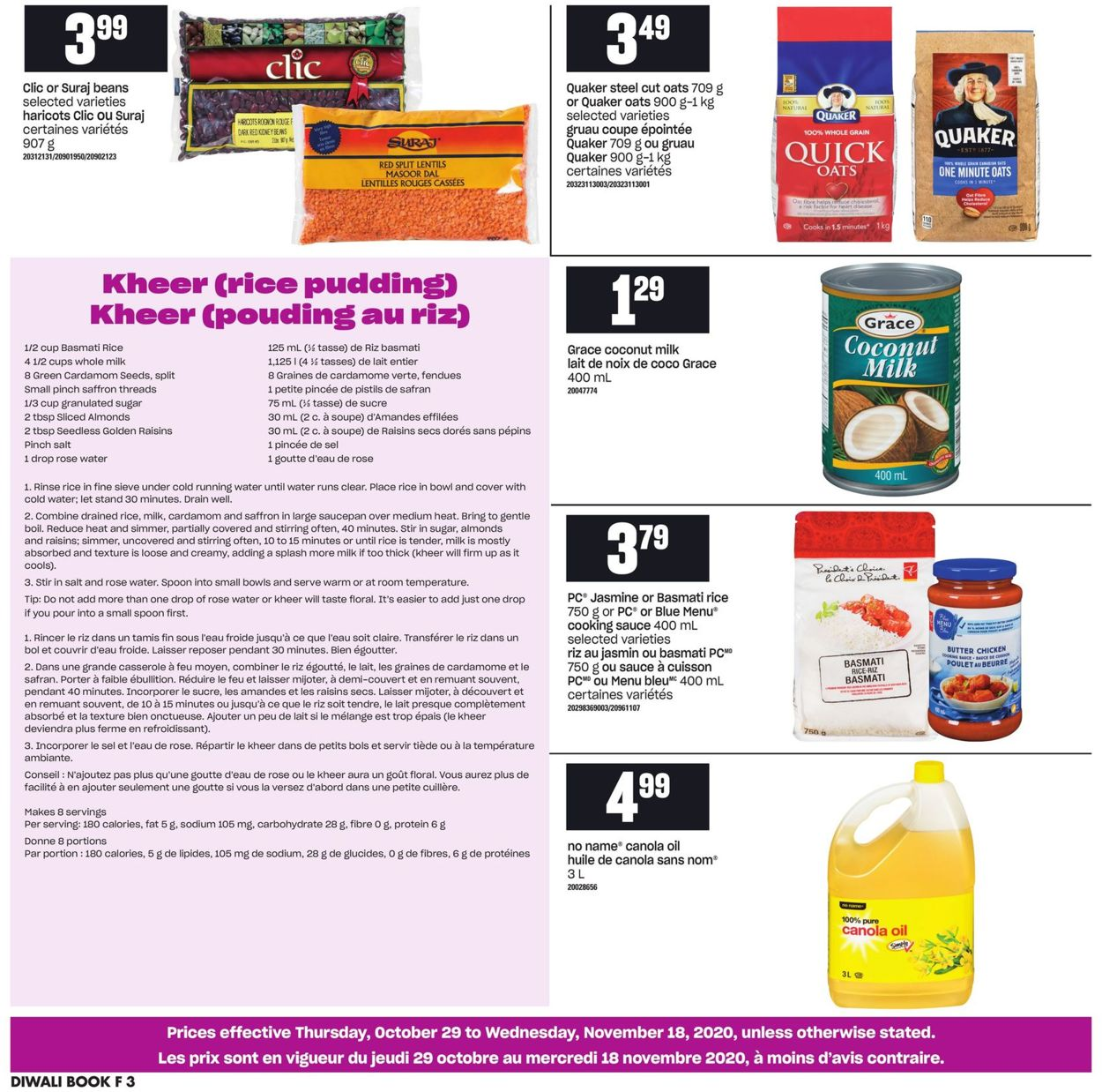 Atlantic Superstore Flyer - 10/29-11/18/2020 (Page 3)