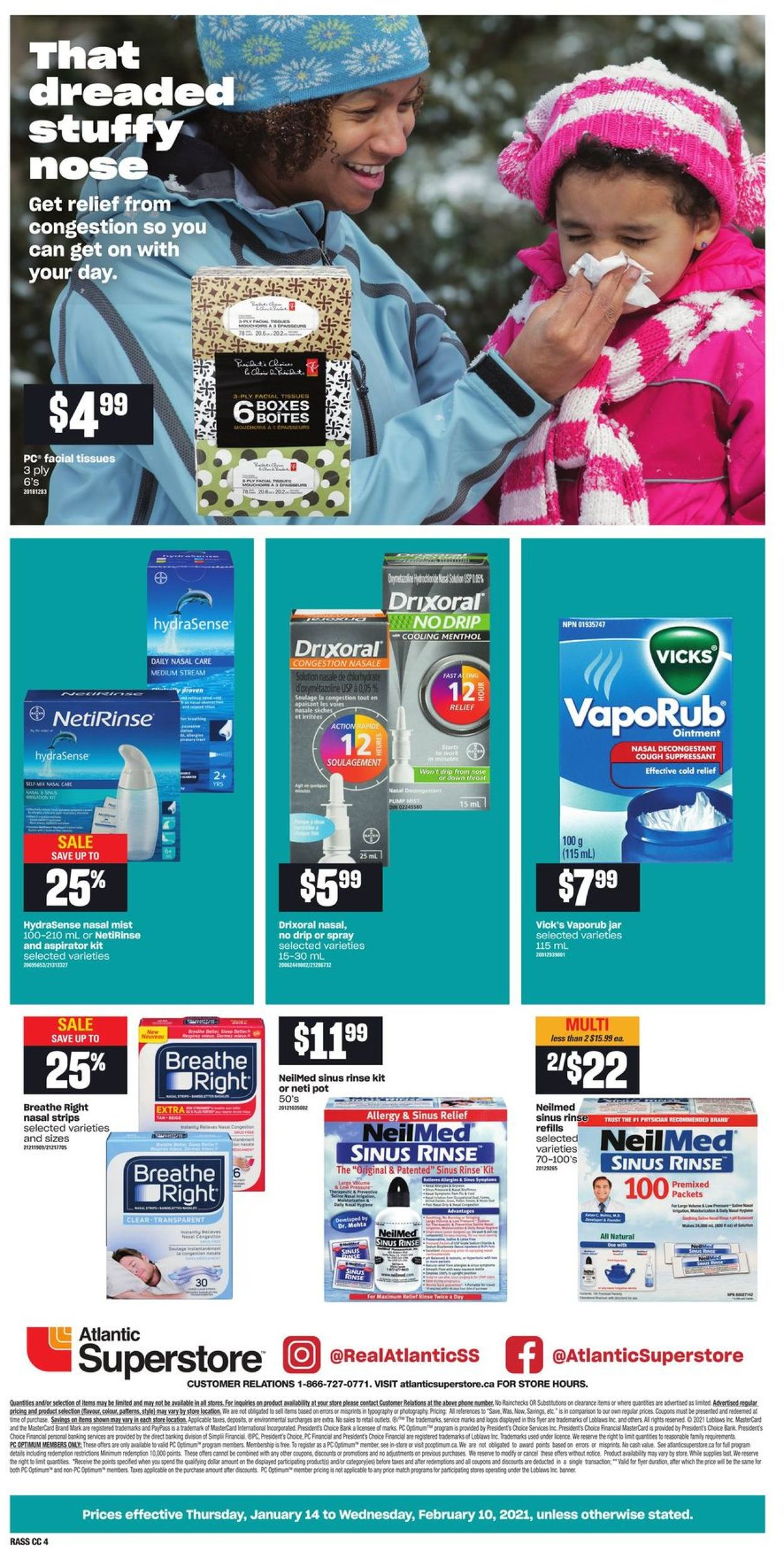 Atlantic Superstore - Cough & Cold Flyer - 01/14-02/10/2021 (Page 4)