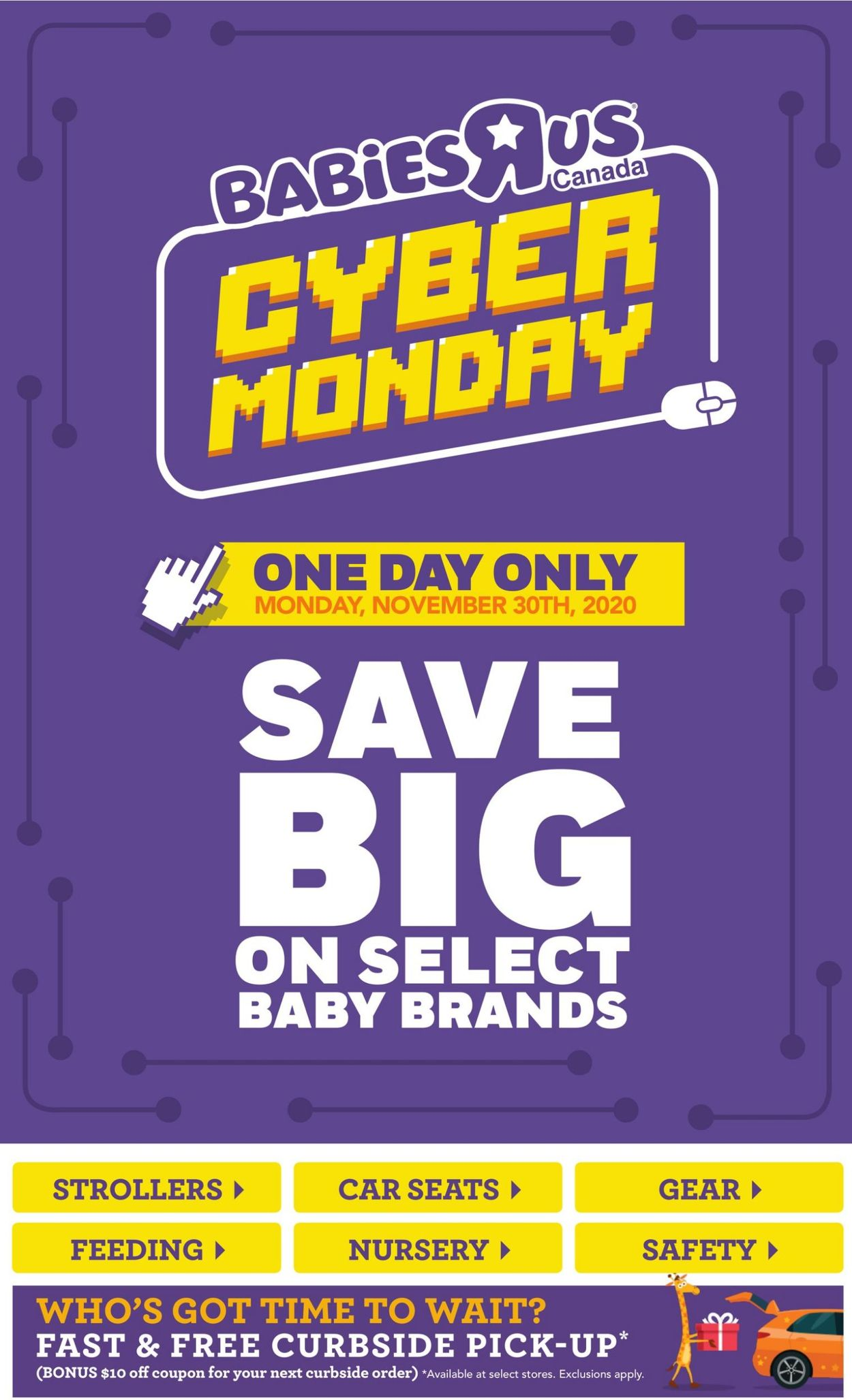 Babies''R''Us - Cyber Monday 2020 Flyer - 11/30-11/30/2020