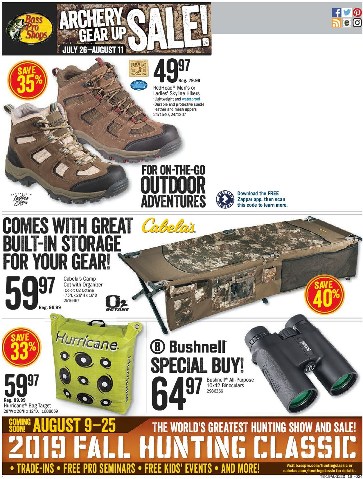 Bass Pro Flyer - 07/26-08/11/2019 (Page 20)