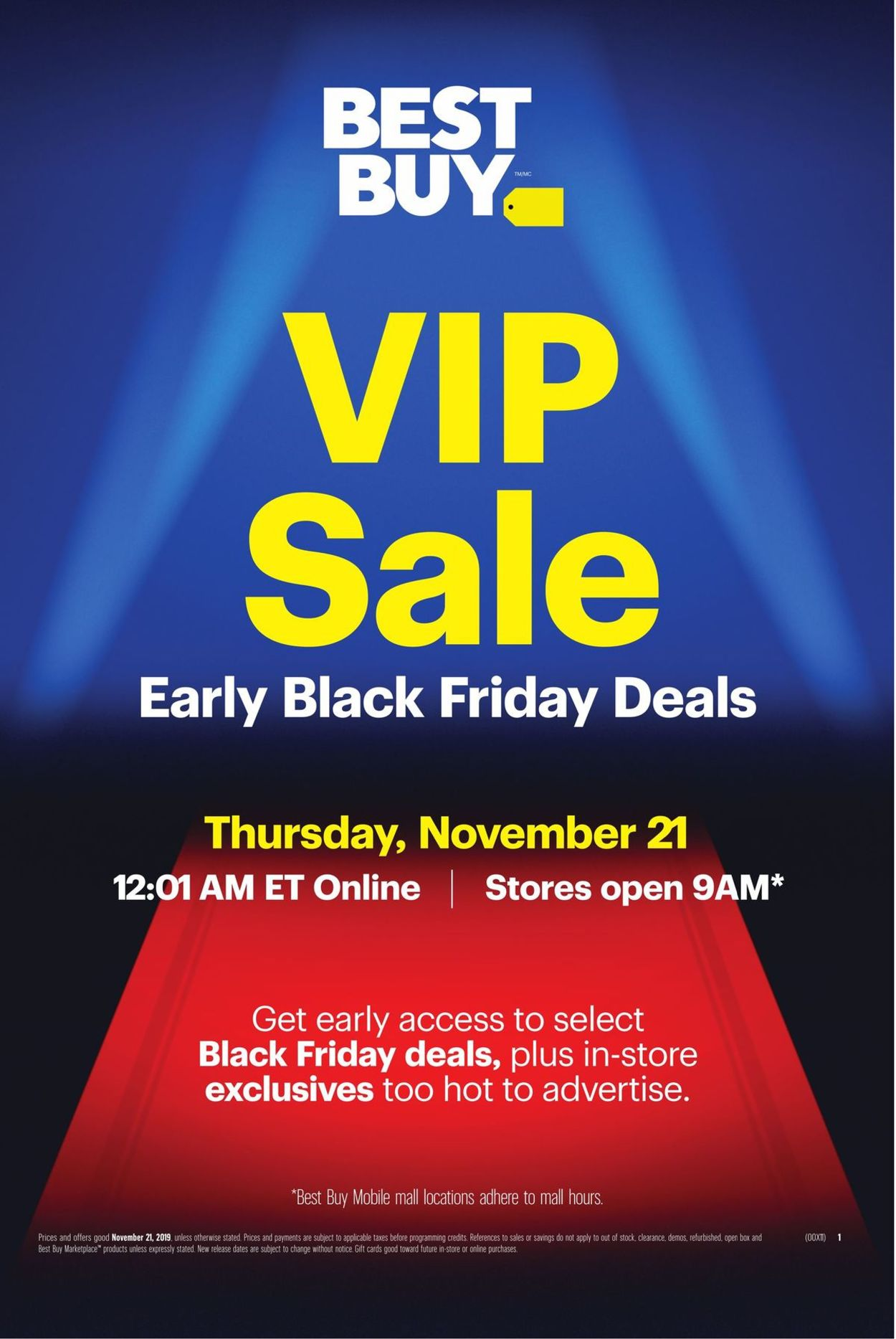 Best Buy - Early Black Friday Deals 2019 Flyer - 11/18-11/21/2019