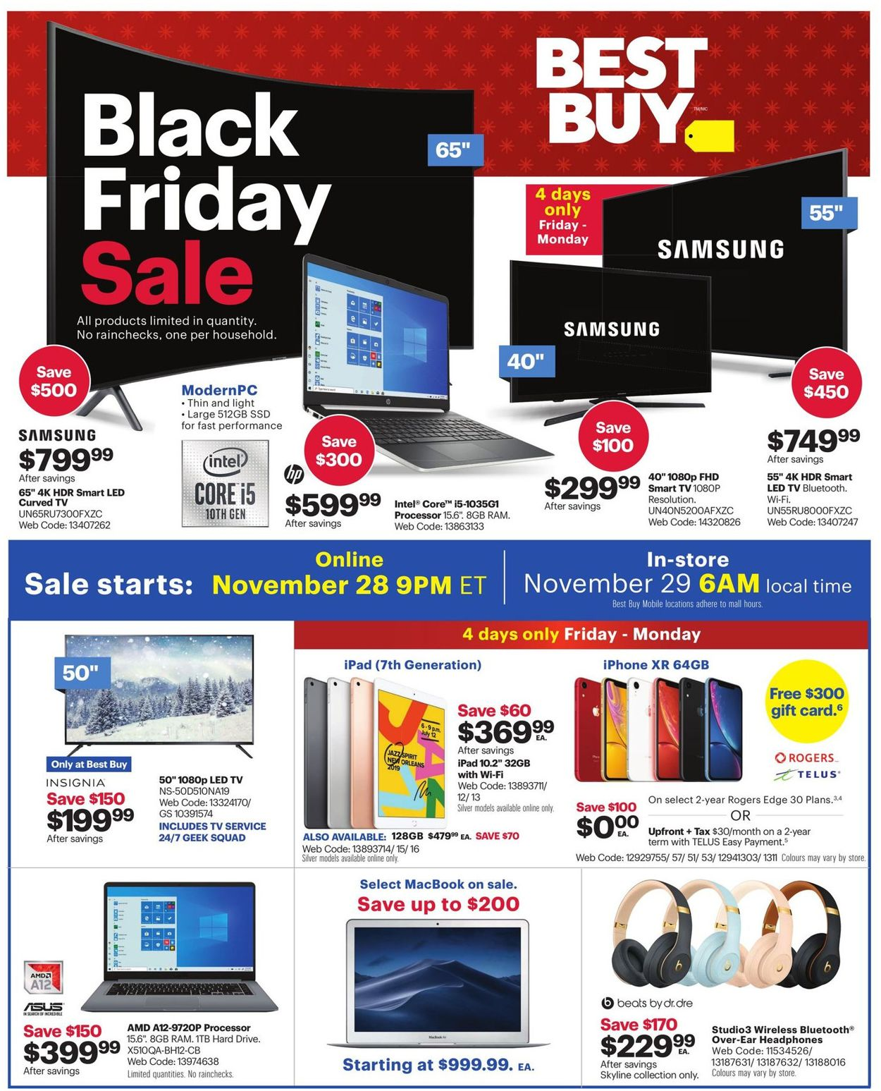 Best Buy - Black Friday Flyer 2019 Flyer - 11/28-12/05/2019