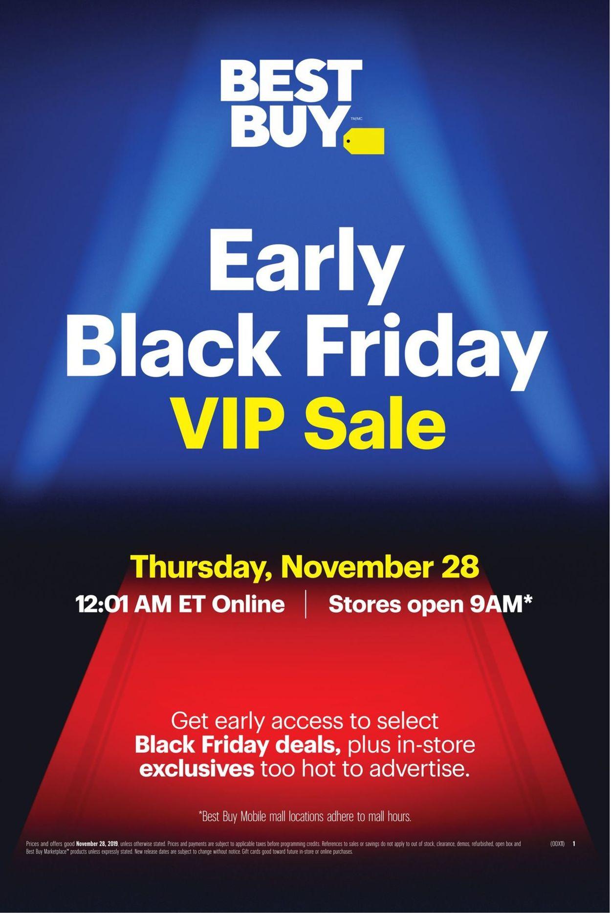 Best Buy - Early Black Friday Sale 2019 Flyer - 11/28-11/28/2019