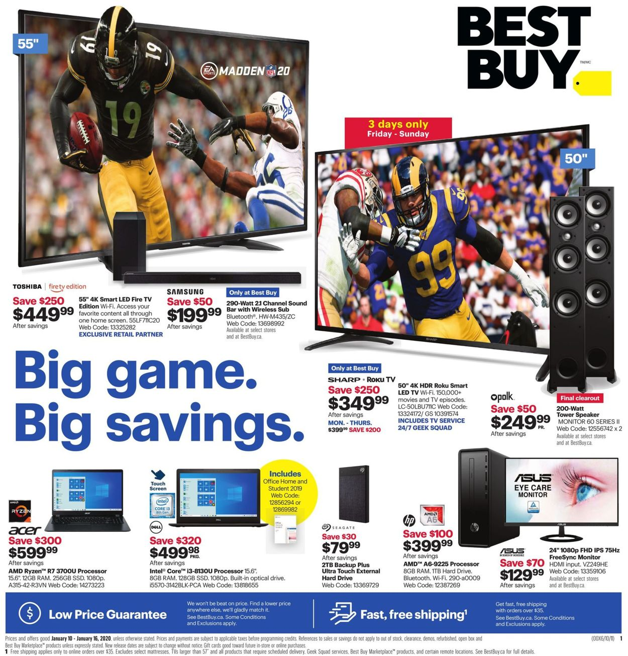 Best Buy Flyer - 01/10-01/16/2020