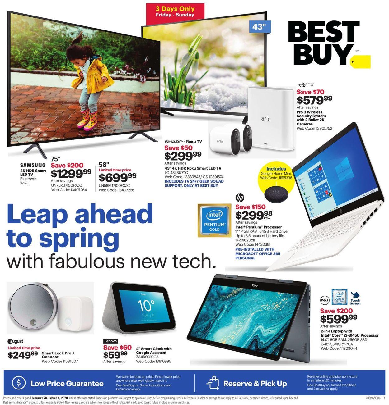 Best Buy Flyer - 02/28-03/05/2020