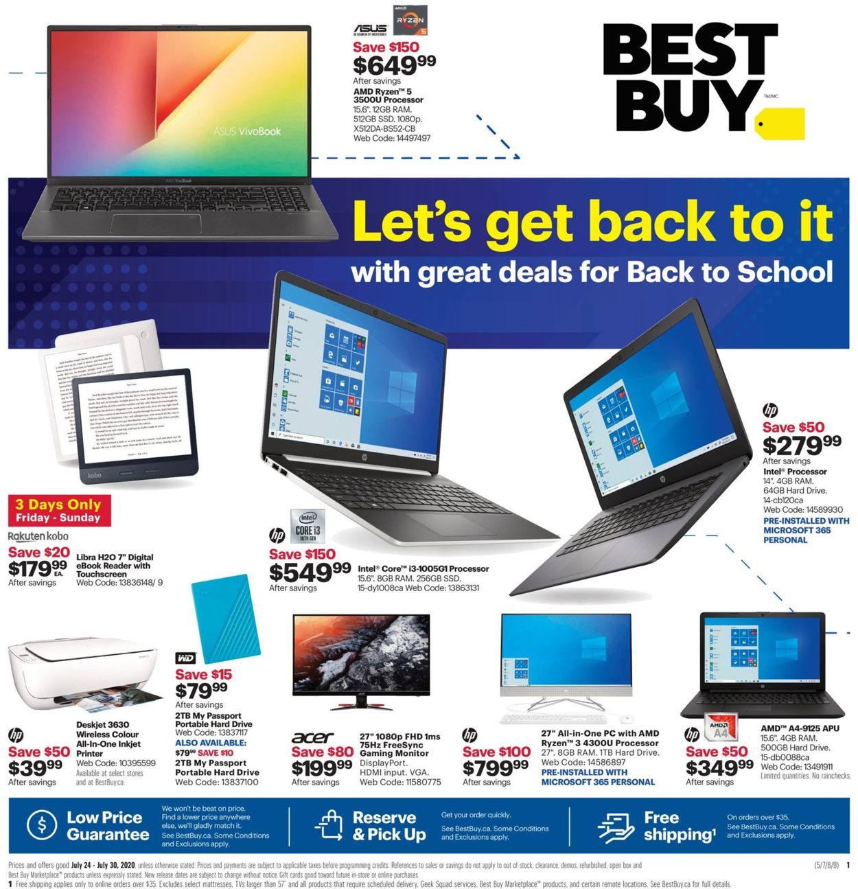 Best Buy Flyer - 07/24-07/30/2020
