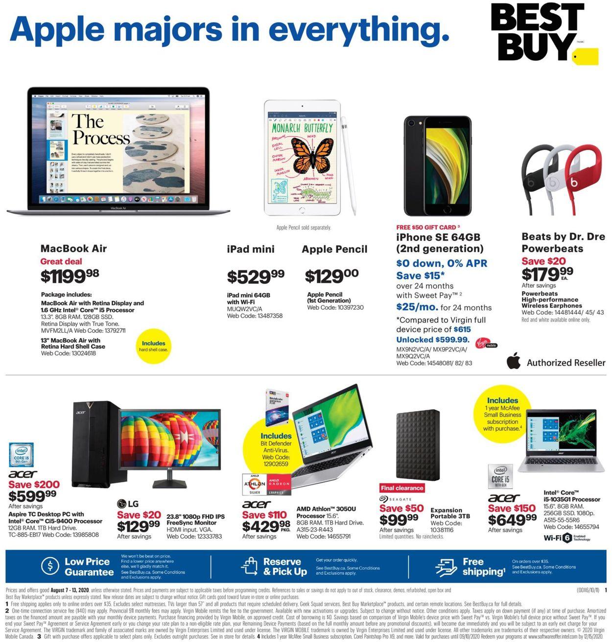 Best Buy Flyer - 08/07-08/13/2020